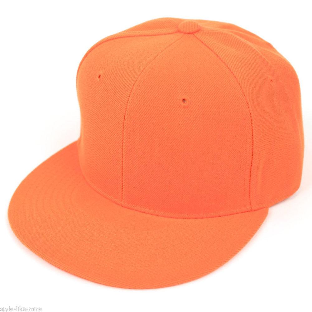 new fitted baseball hat cap plain basic blank color flat bill visor