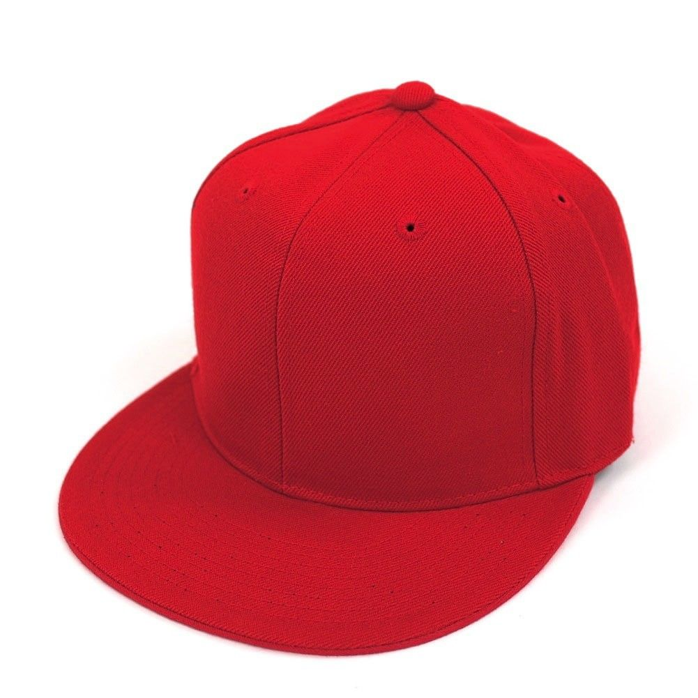 Decky Fbhm2wht0 Mens Fitted Baseball Hat Cap Flat Bill Blank 6 7 8 ... dc382aecec49