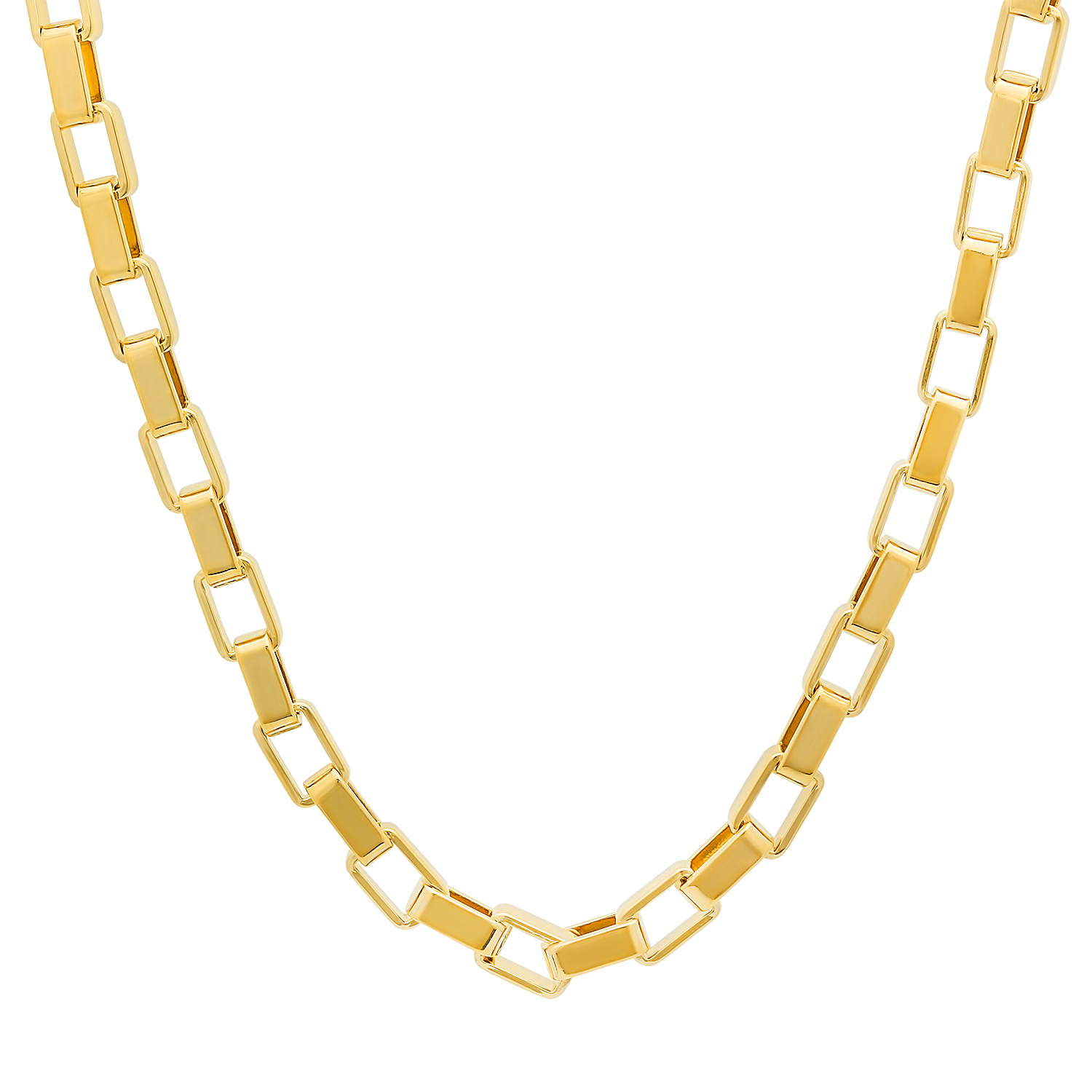 5mm 14k Gold Plated Box Chain | eBay