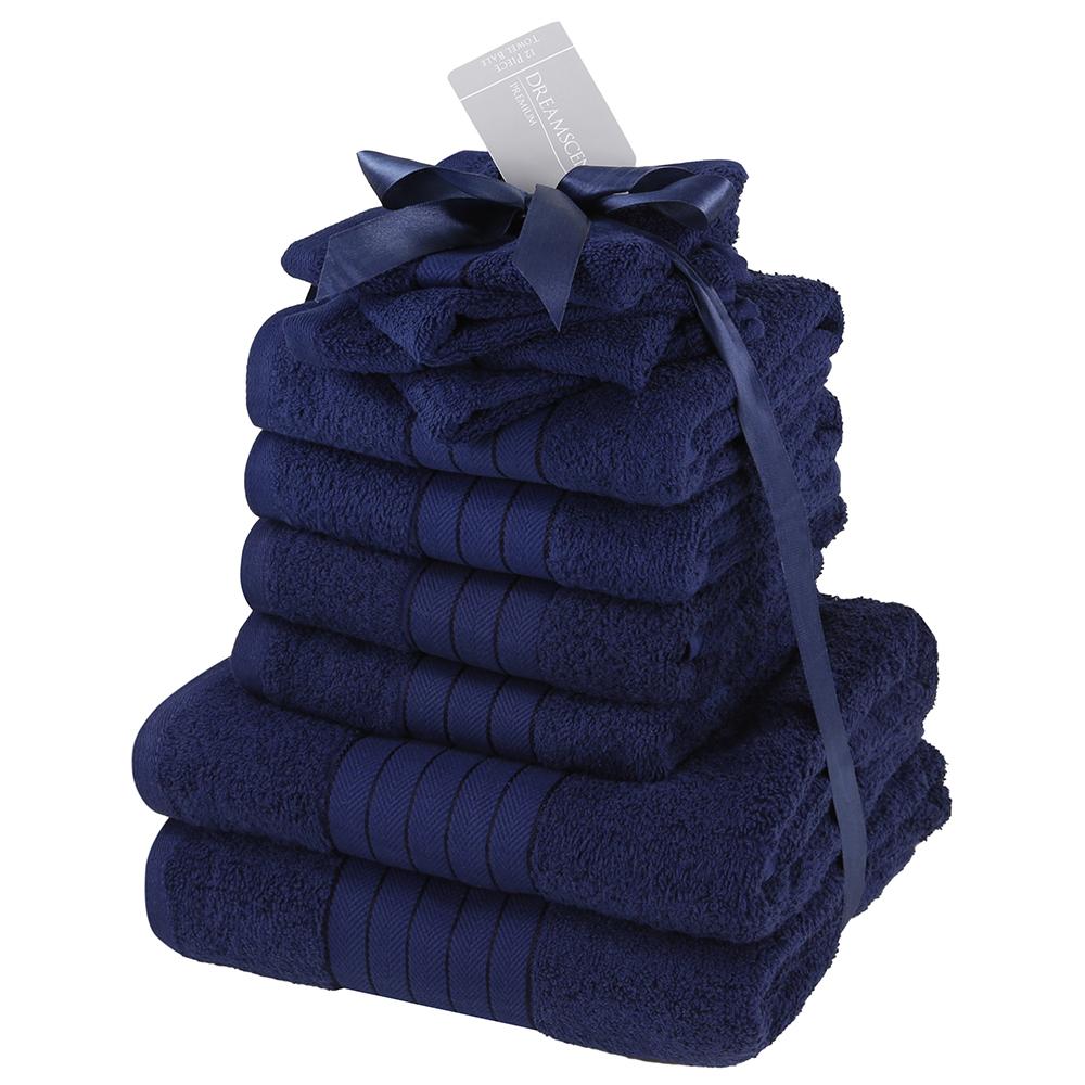 Luxuriös Weich 10 Stück Handtuch Bündel Geschenk Set 100 Baumwolle