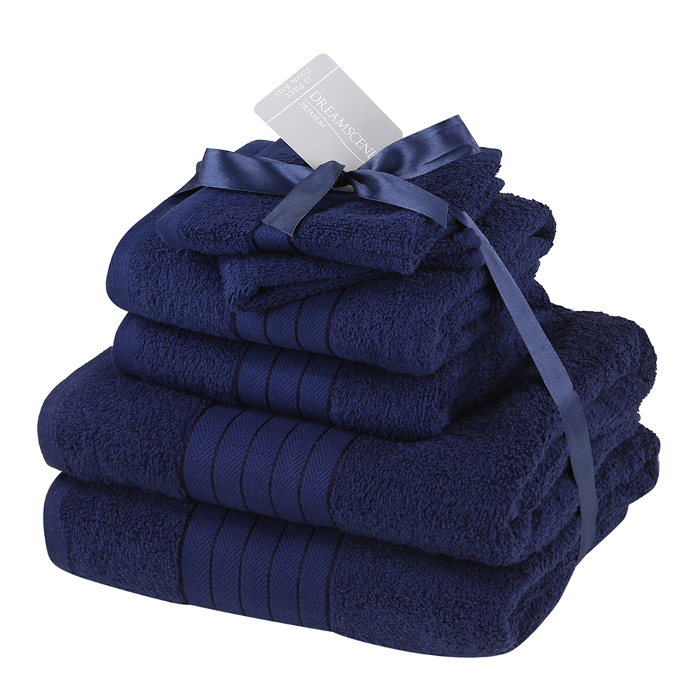 Dreamscene-Luxury-100-Cotton-Face-Hand-Bath-6-Piece-Bathroom-Towel-Bale-Set-NEW thumbnail 15