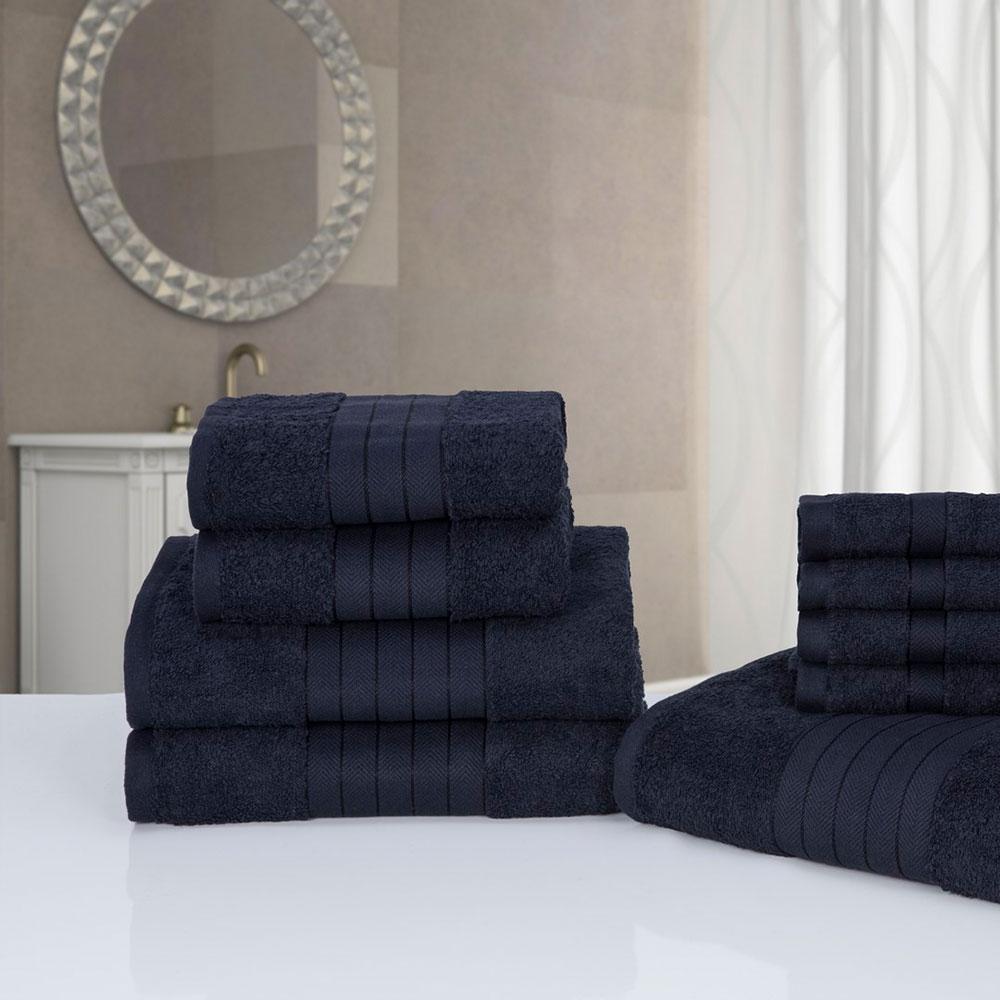 Deluxe Suave 9 PIEZAS PLACA FRONTAL Conjunto de toallas manos y Baño ...
