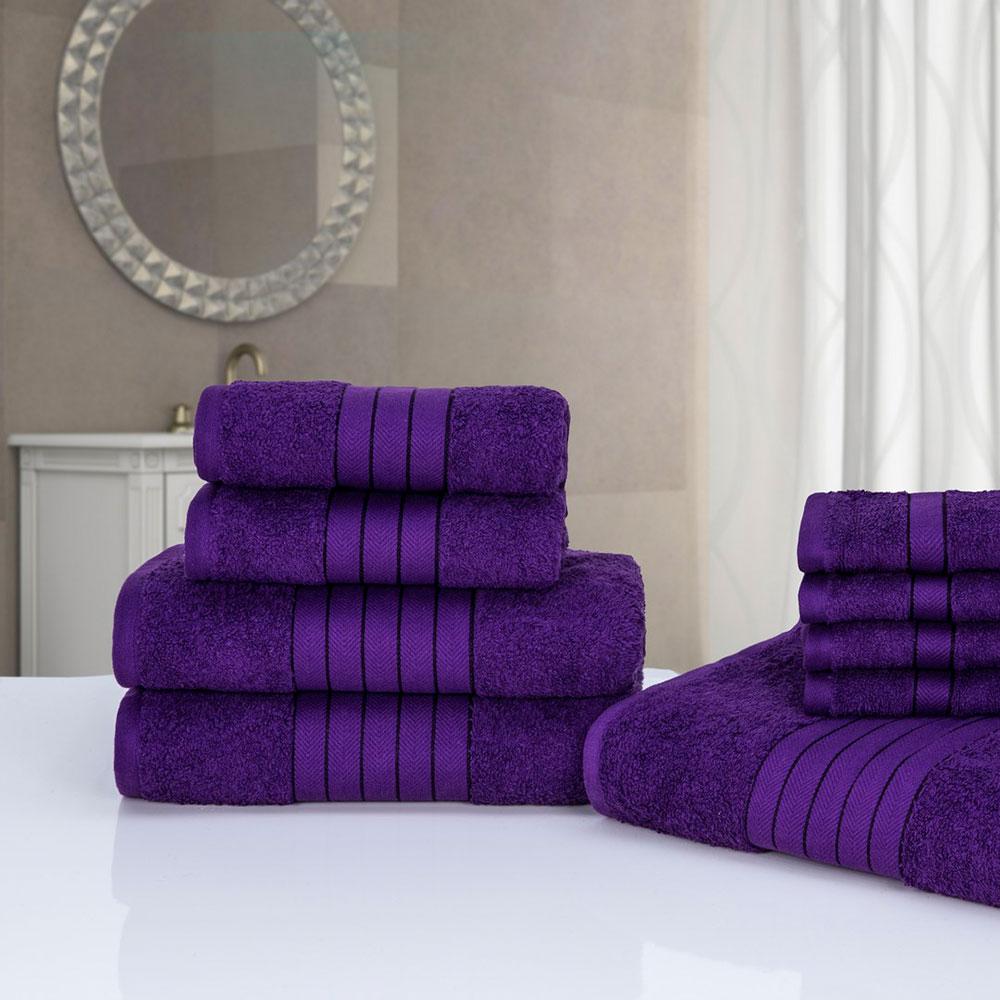 Luxus 100 % ägyptischer Baumwolle 9 Stück Badezimmer Handtuch Bale Gesicht  Bad Hand Geschenk Set