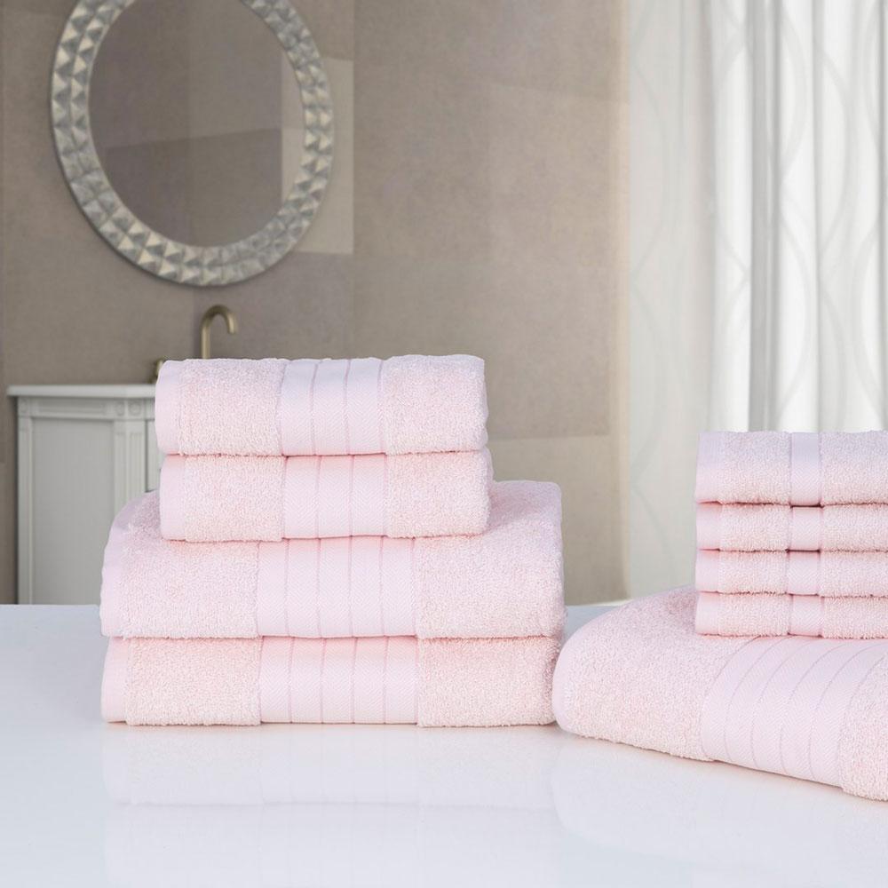 Luxury Soft 9 Piece Face Hand Bath Towel Bale Bathroom Set 100 ...