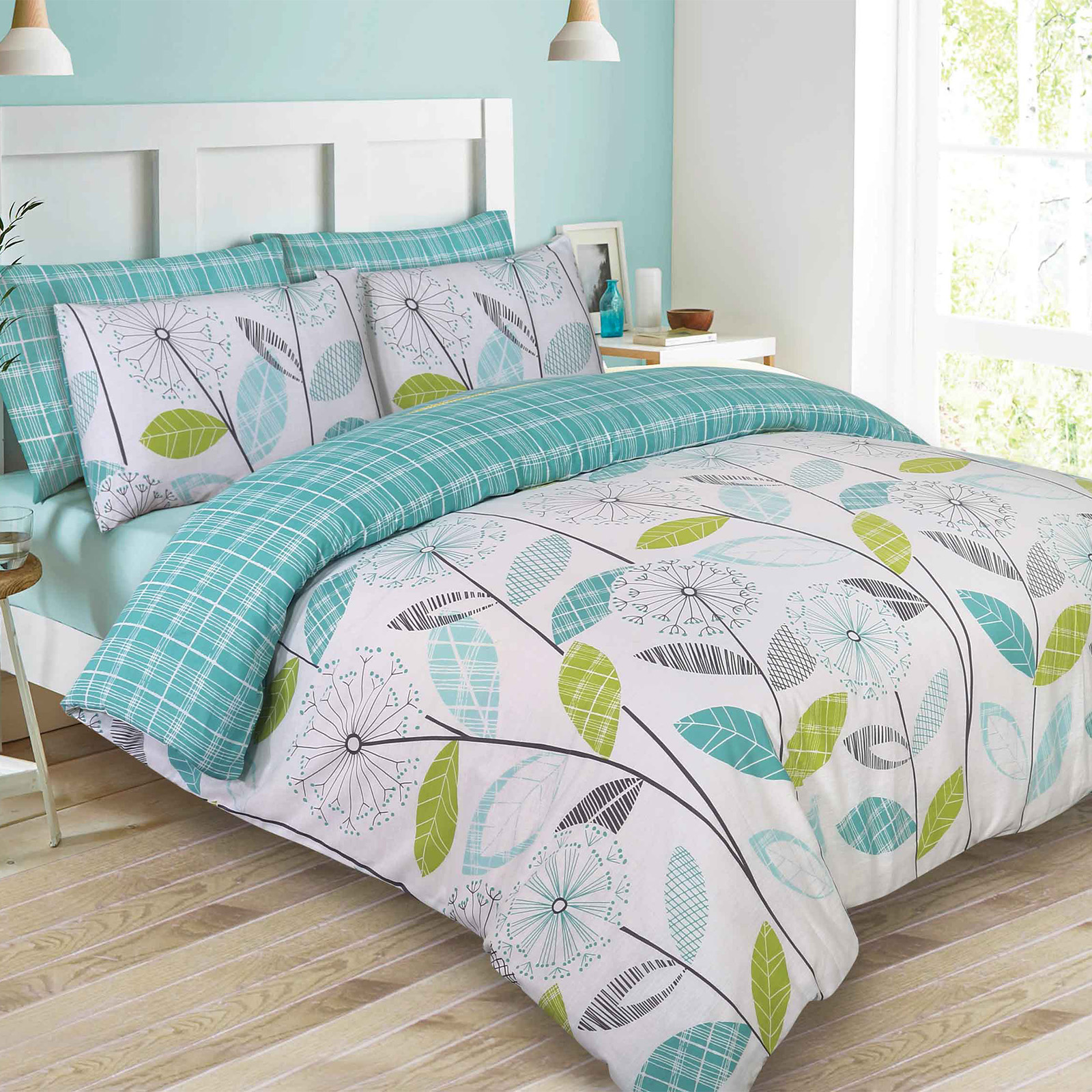 uk sets bed bedding fl image designs green piece set