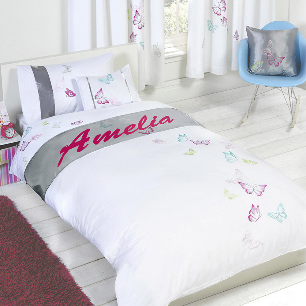 Personalised Butterfly Duvet Cover With Pillow Case