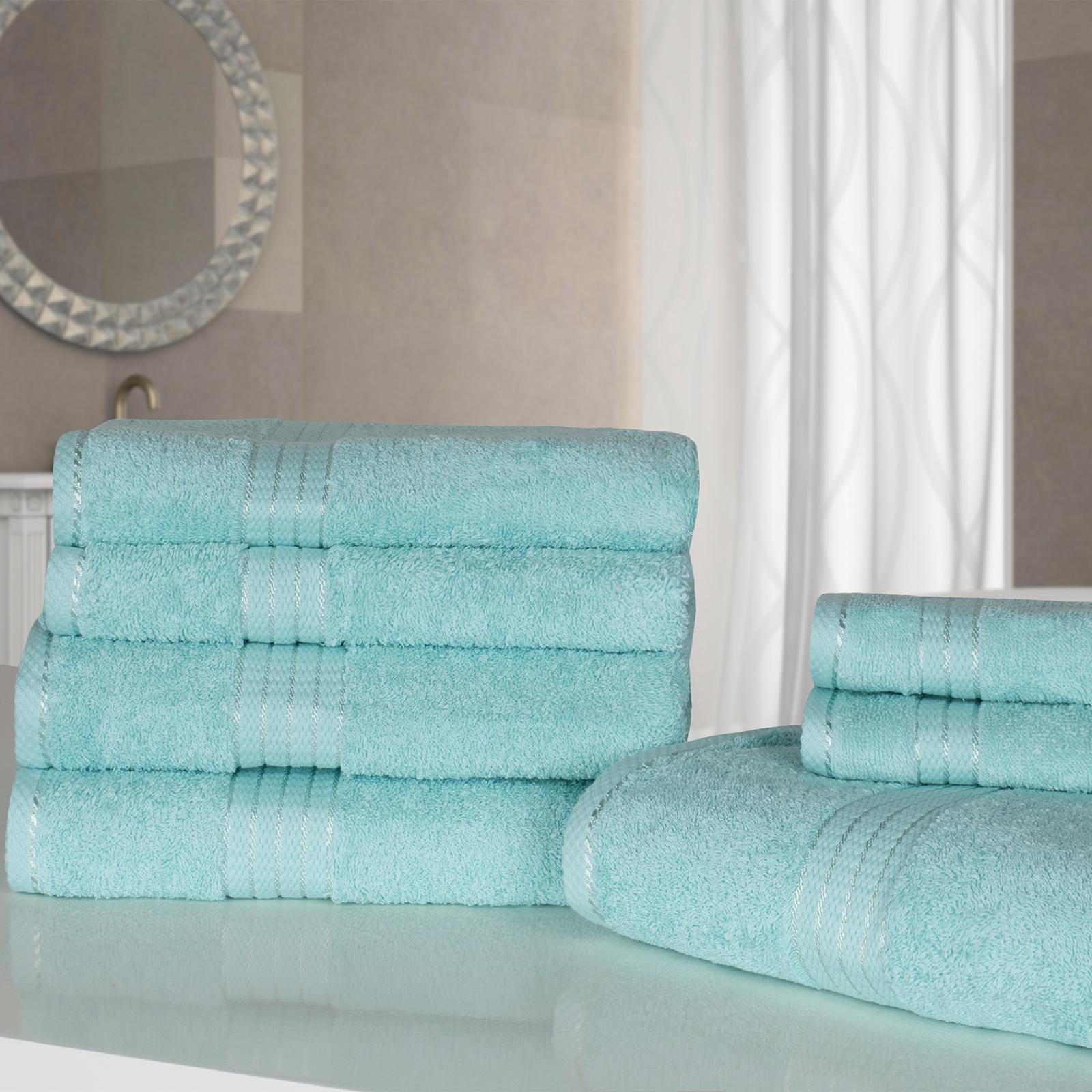 Bathroom Towels Luxury: Luxury Soft 7 Piece Hand Bath Towel Bale Gift Set 100