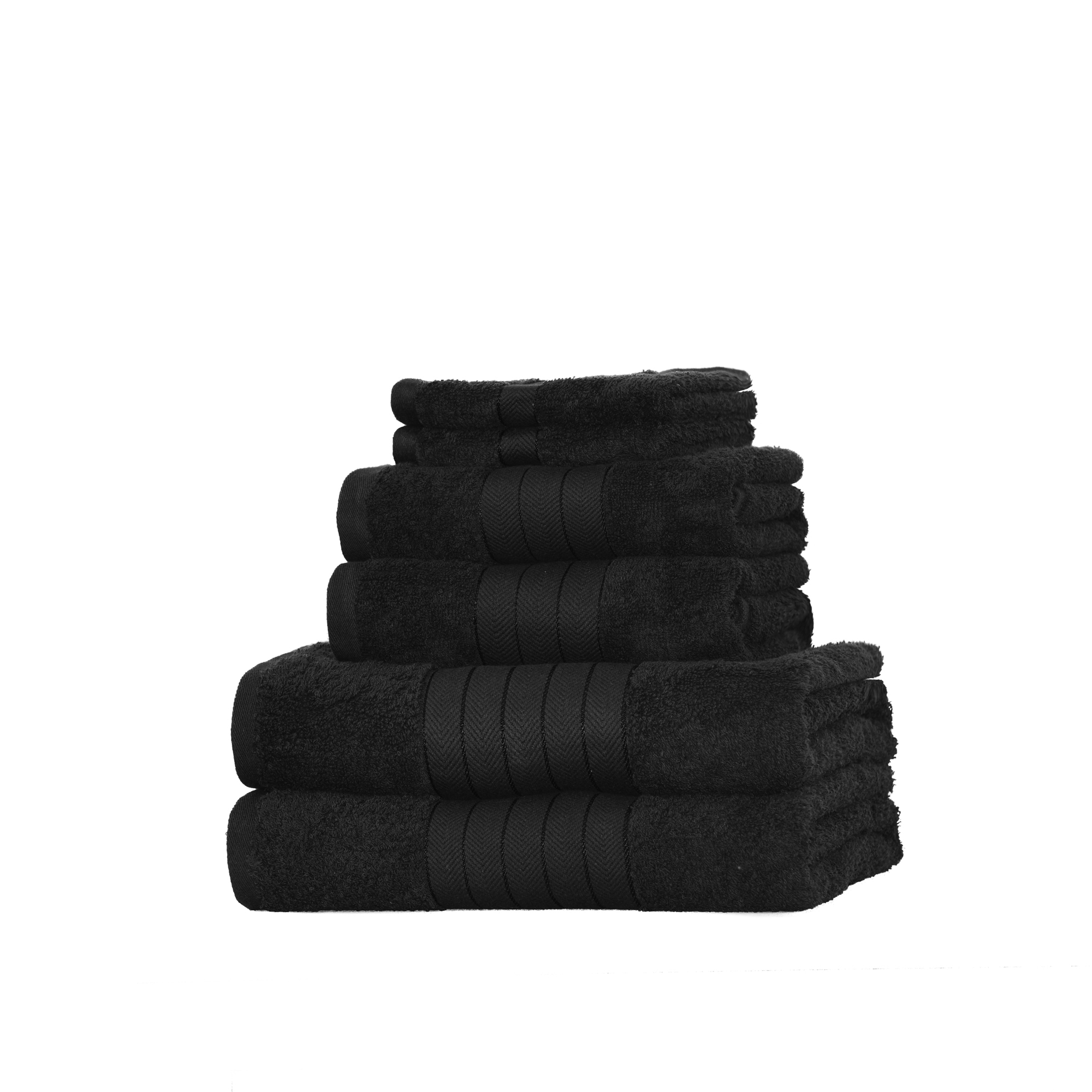 Dreamscene-Luxury-100-Cotton-Face-Hand-Bath-6-Piece-Bathroom-Towel-Bale-Set-NEW thumbnail 49