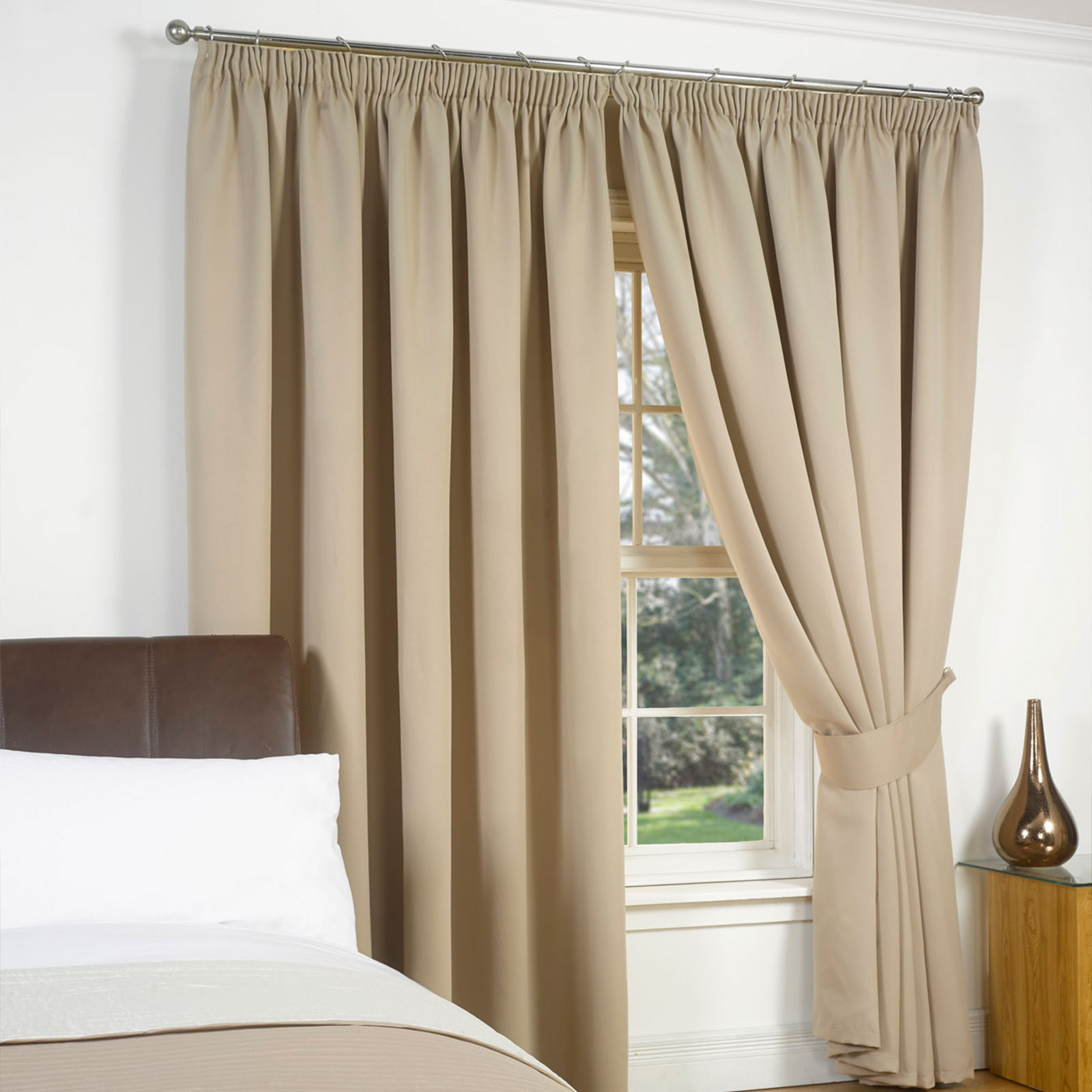 Dreamscene Thermal Pencil Pleat PAIR Of Blackout Curtains
