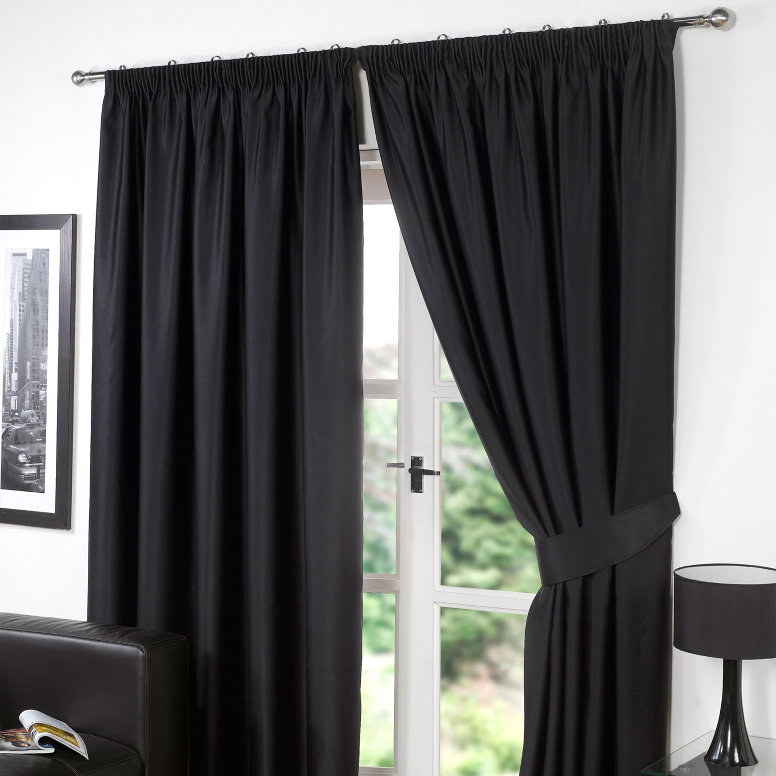 Dreamscene Thermal Pencil Pleat PAIR Of Blackout Curtains