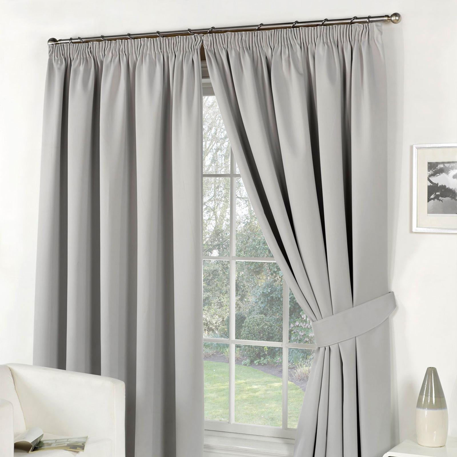 dreamscene thermique accroche pliss e paire de rideau occultant embrasses ebay. Black Bedroom Furniture Sets. Home Design Ideas