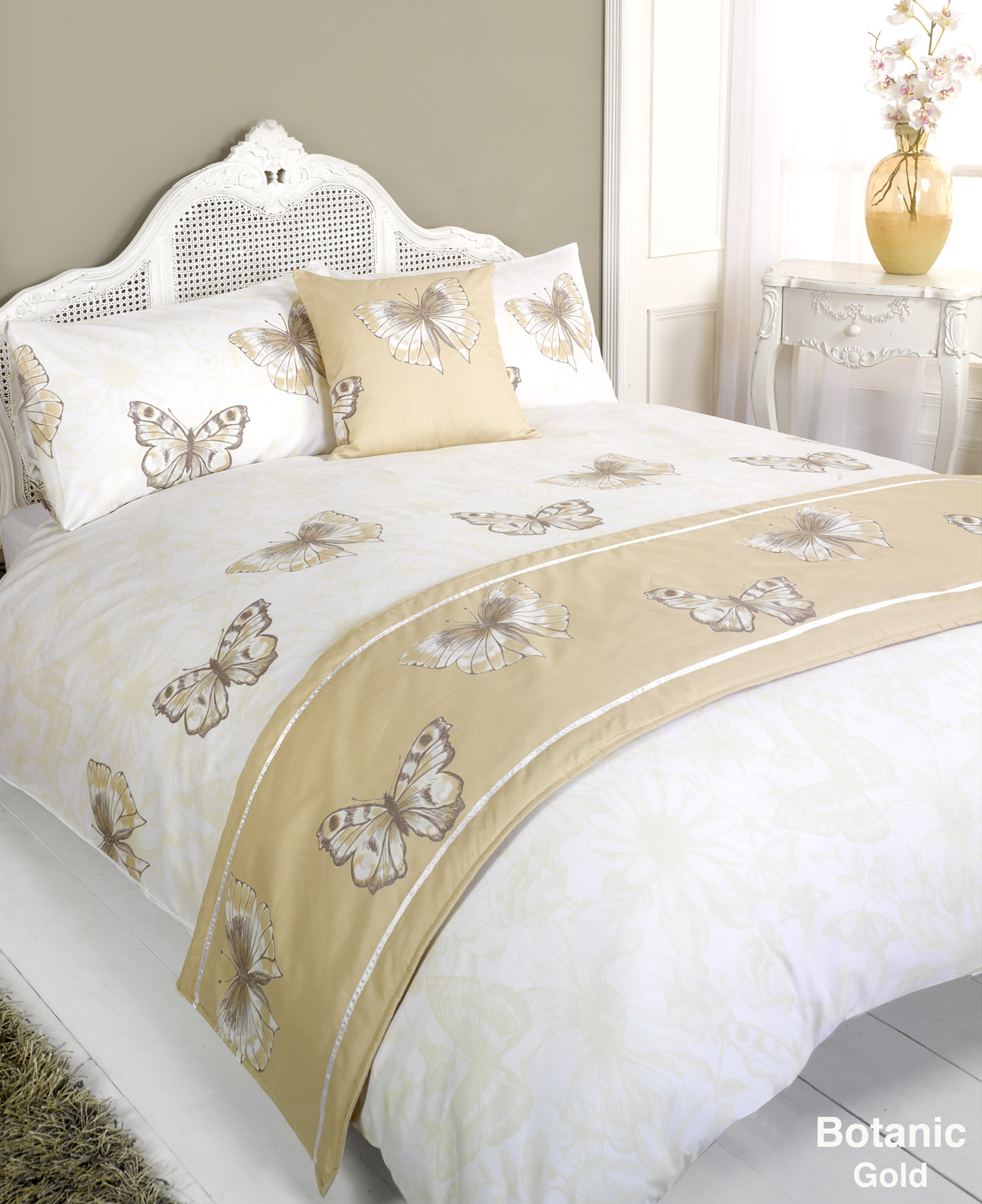 stepp bettdecke bettw sche bed in a bag gold einzelbett doppelbett kingsize ebay. Black Bedroom Furniture Sets. Home Design Ideas