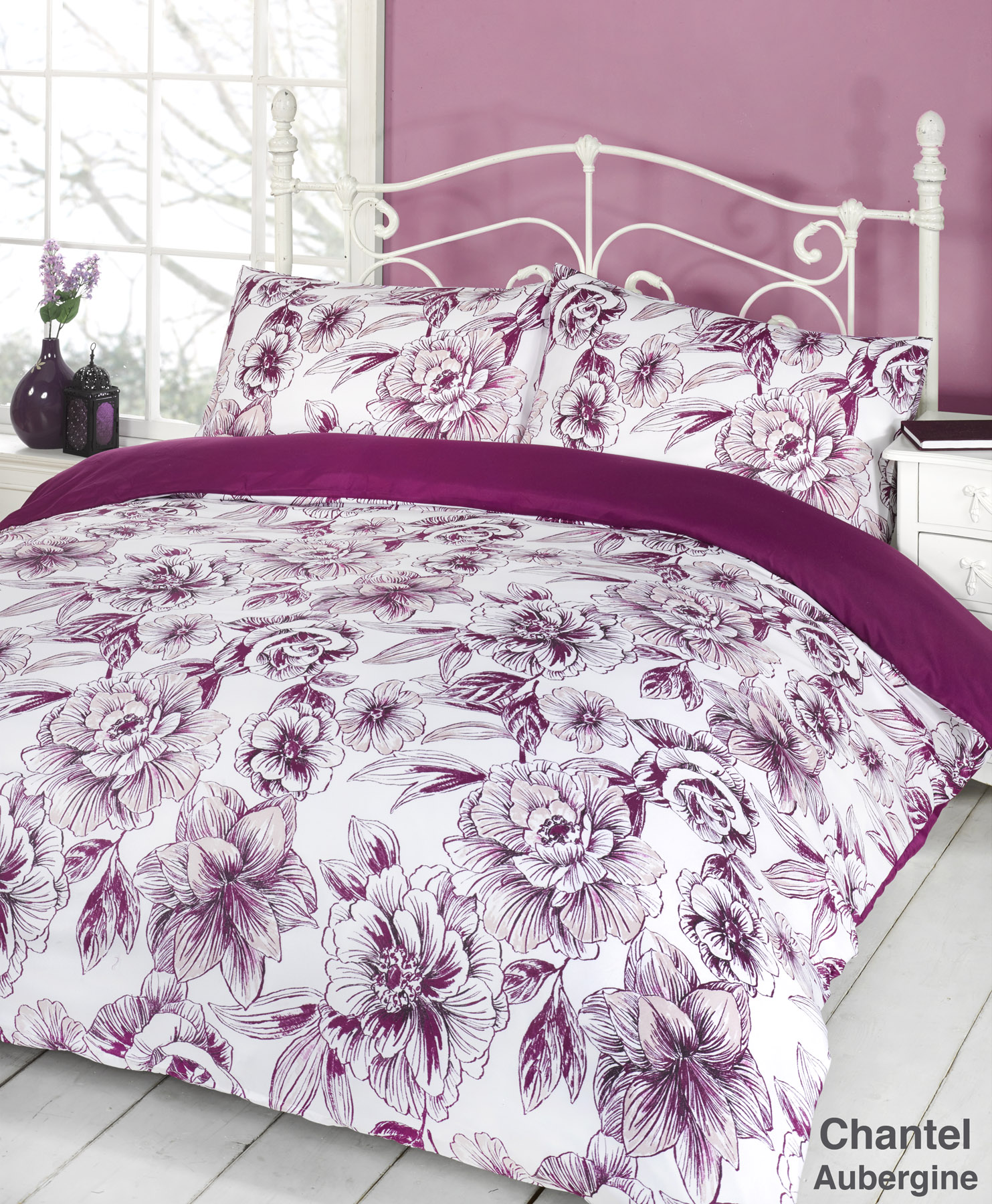 duvet quilt cover bedding set all colours single double king size superking size ebay. Black Bedroom Furniture Sets. Home Design Ideas