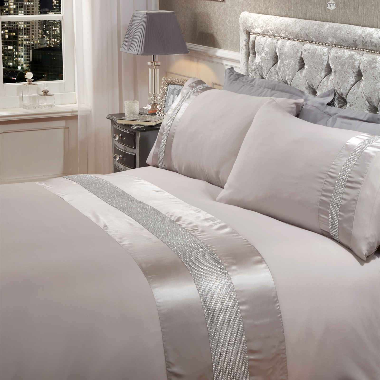 Sienna-Diamante-Glitz-Duvet-Cover-with-Pillowcase-Sparkle-Bedding-Set-Black-Grey