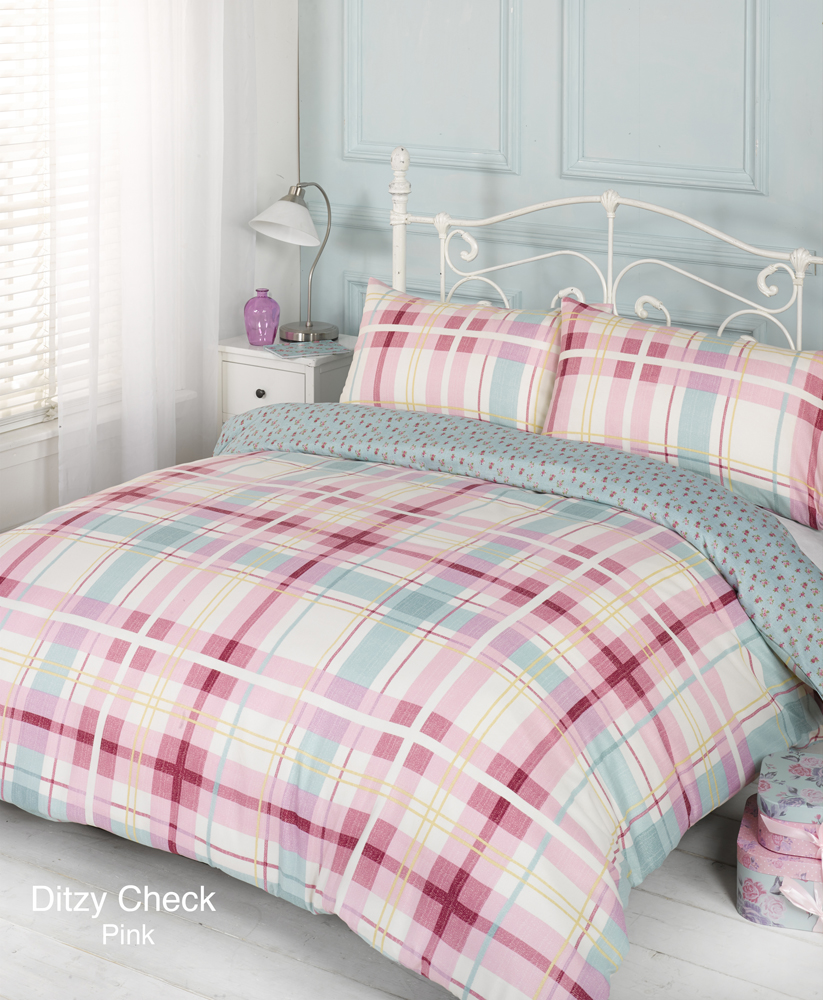 Single-Double-King Size-Super King Size Amalya Pink Duvet Bedding Set