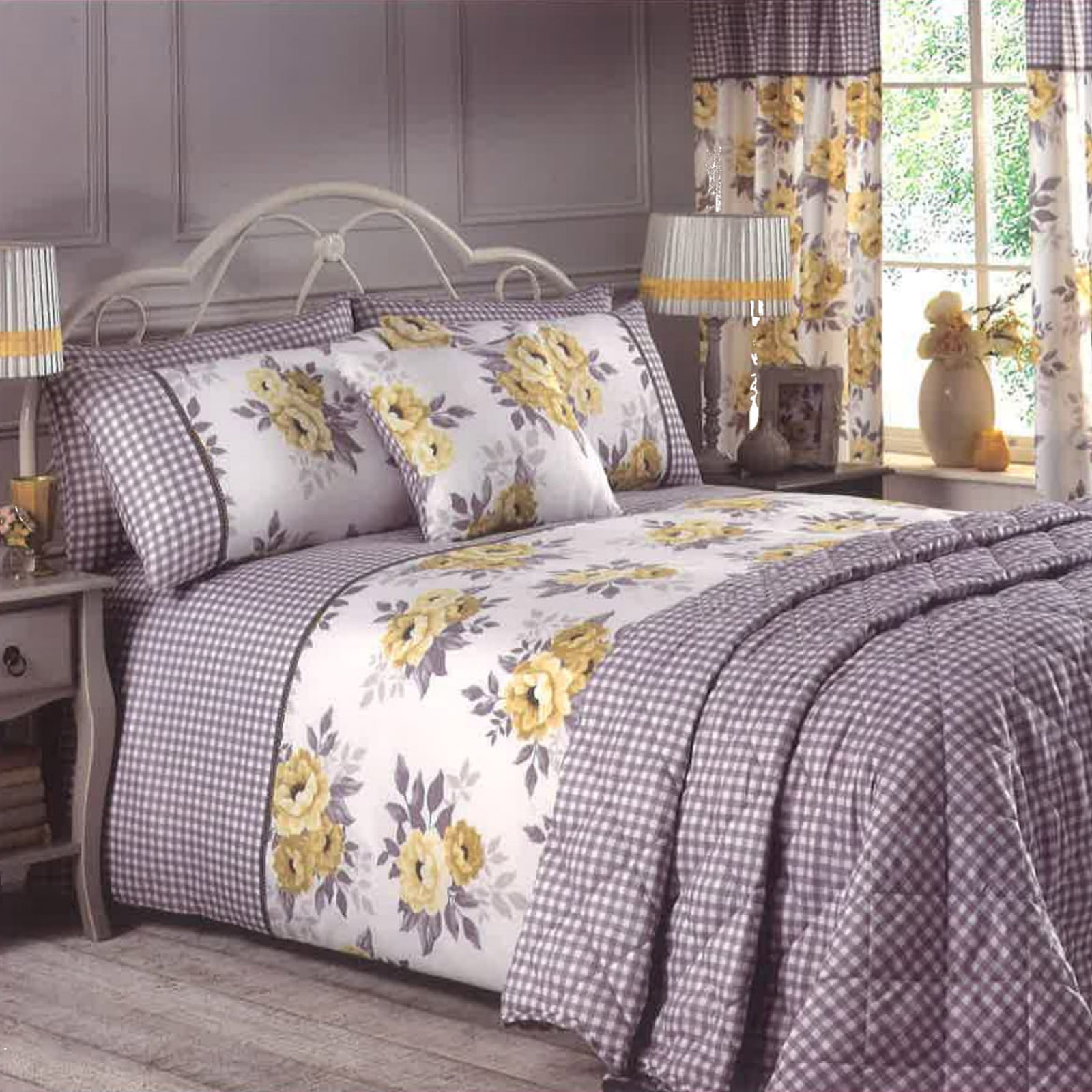 Complete duvet cover with pillowcase bedspread and - Complete bedroom sets with curtains ...