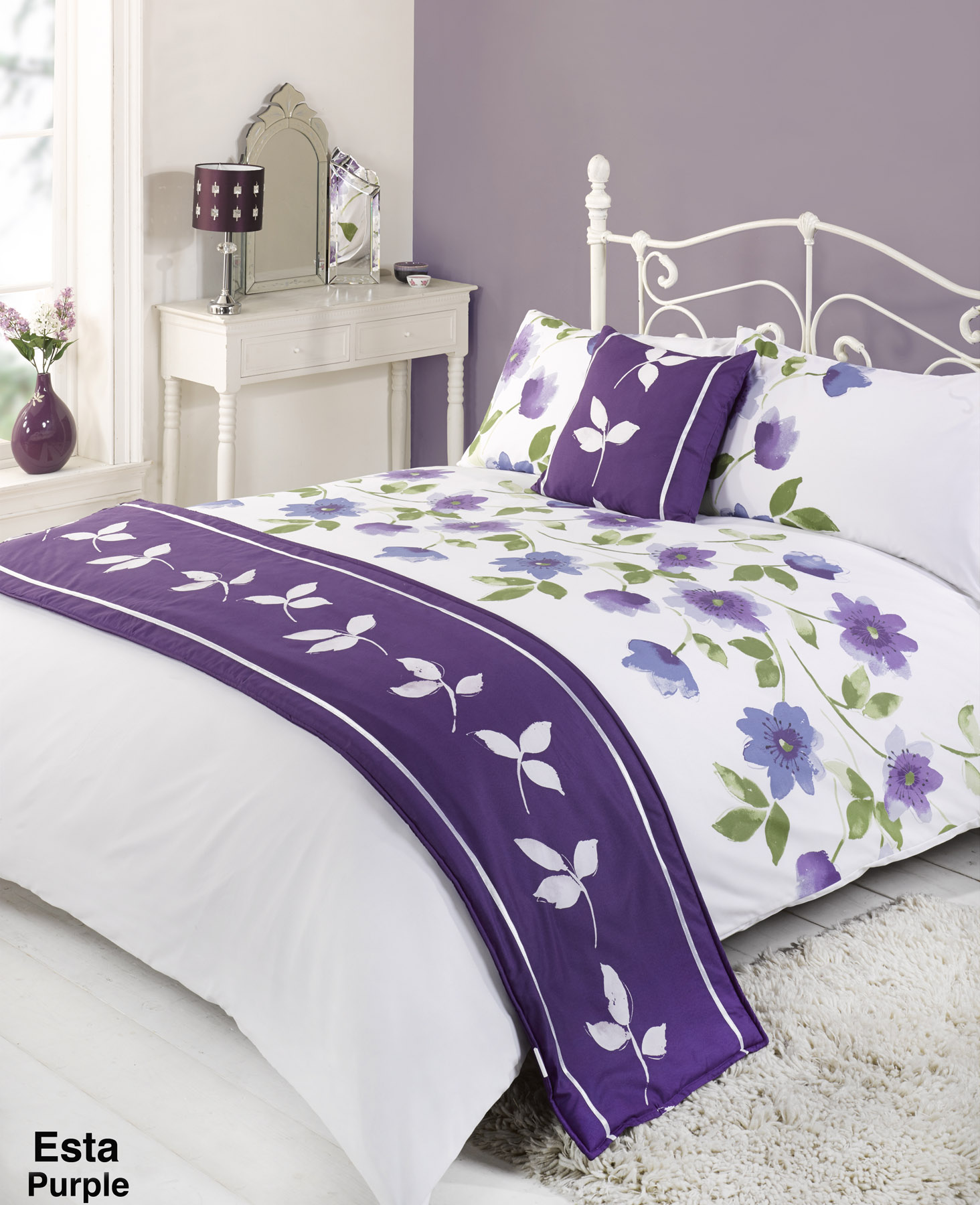 Duvet cover with pillow case quilt bedding set bed in a - All in one double bed ...