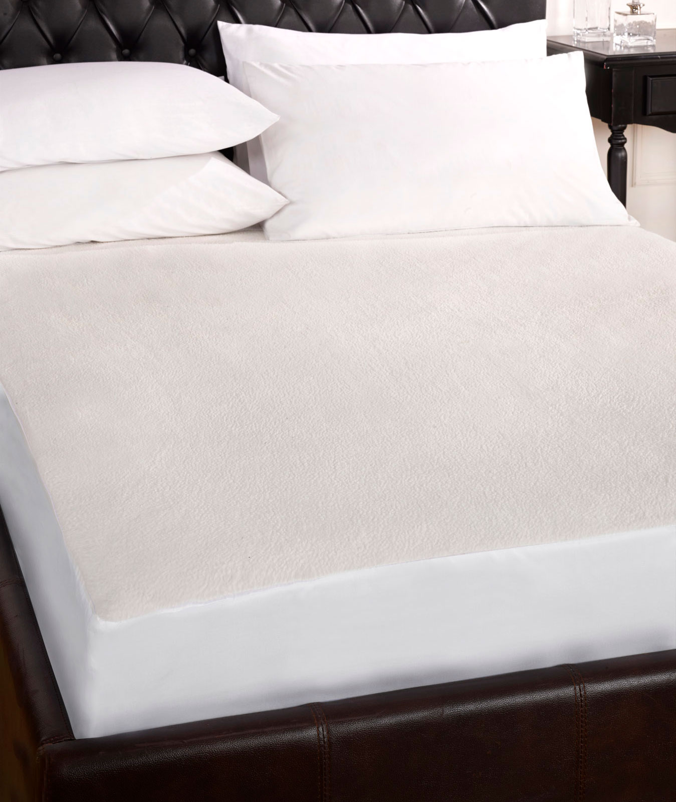 QUILTED OR WATERPROOF TERRY TOWELLING MATTRESS PROTECTOR SINGLE DOUBLE KING