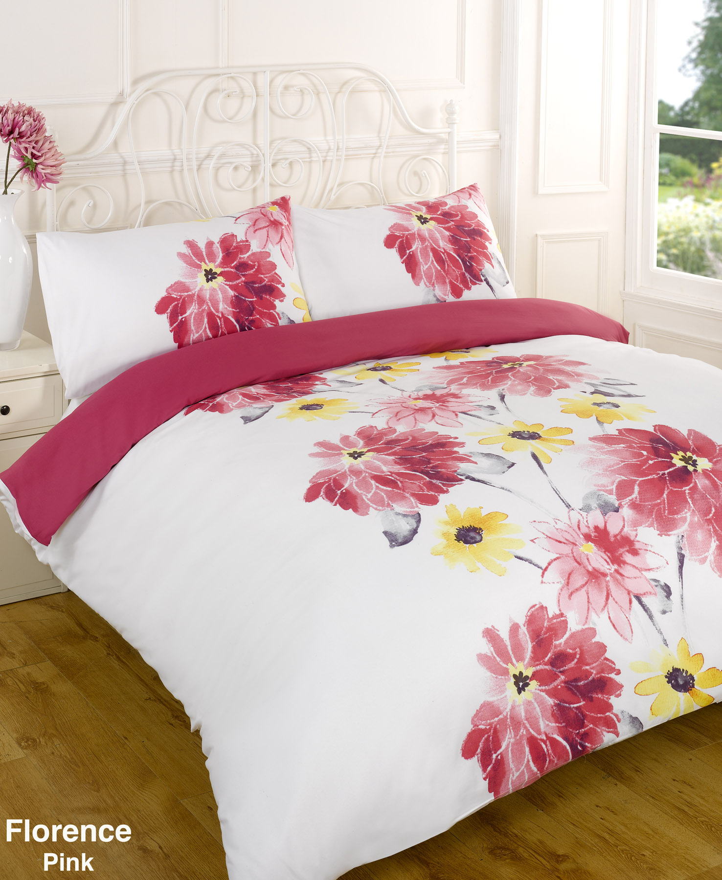 bettw scheset pink einzelbett doppelbett kingsize kingsize super king ebay. Black Bedroom Furniture Sets. Home Design Ideas