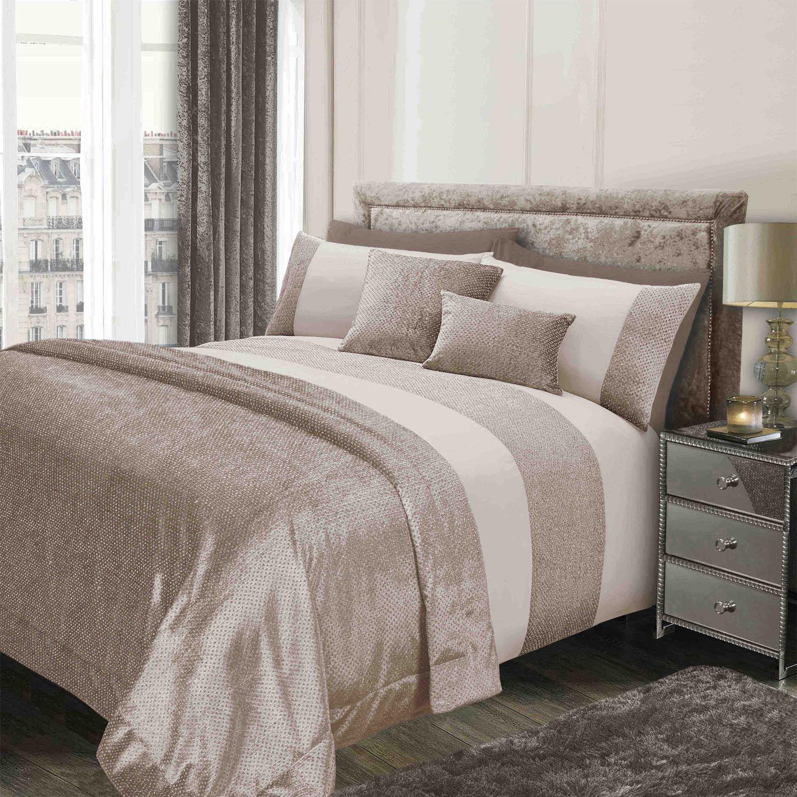 Sienna-Glitter-Duvet-Cover-with-Pillow-Case-Sparkle-Velvet-Bedding-Set-Grey-Gold