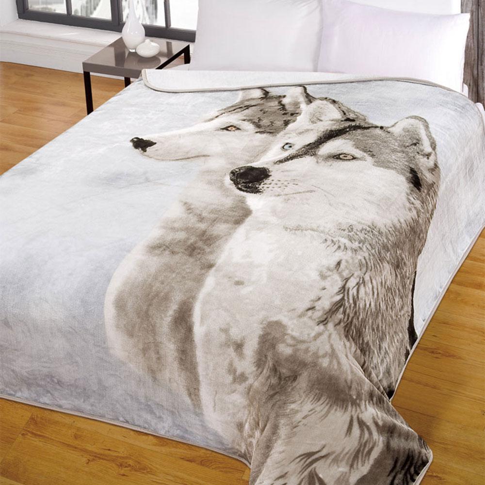 Dreamscene Animal Print Faux Fur Large Mink Throw Warm Fleece Bed Sofa  Blanket