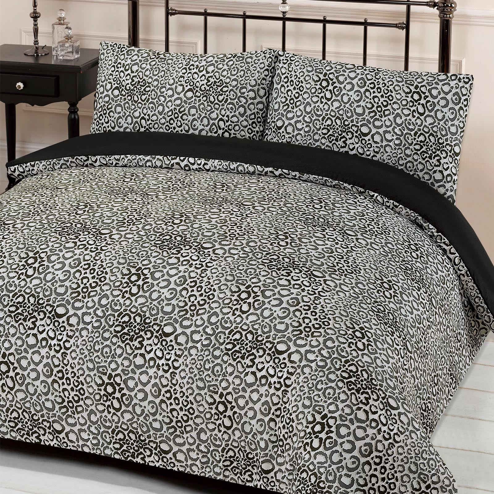 Delightful Leopard Print Quilt Cover With Pillowcase Duvet Bedding