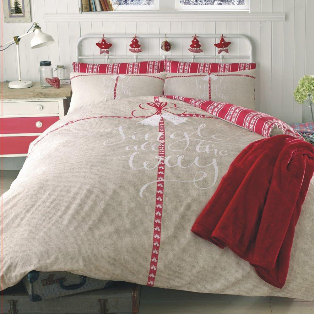 bed set gold stag christmas friends the bedding products cosy company