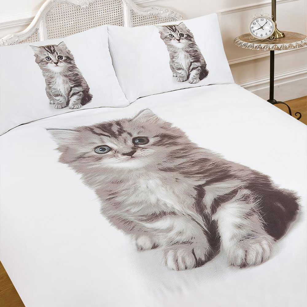 Kitten Duvet Cover With Pillow Case Bedding Set Blanket