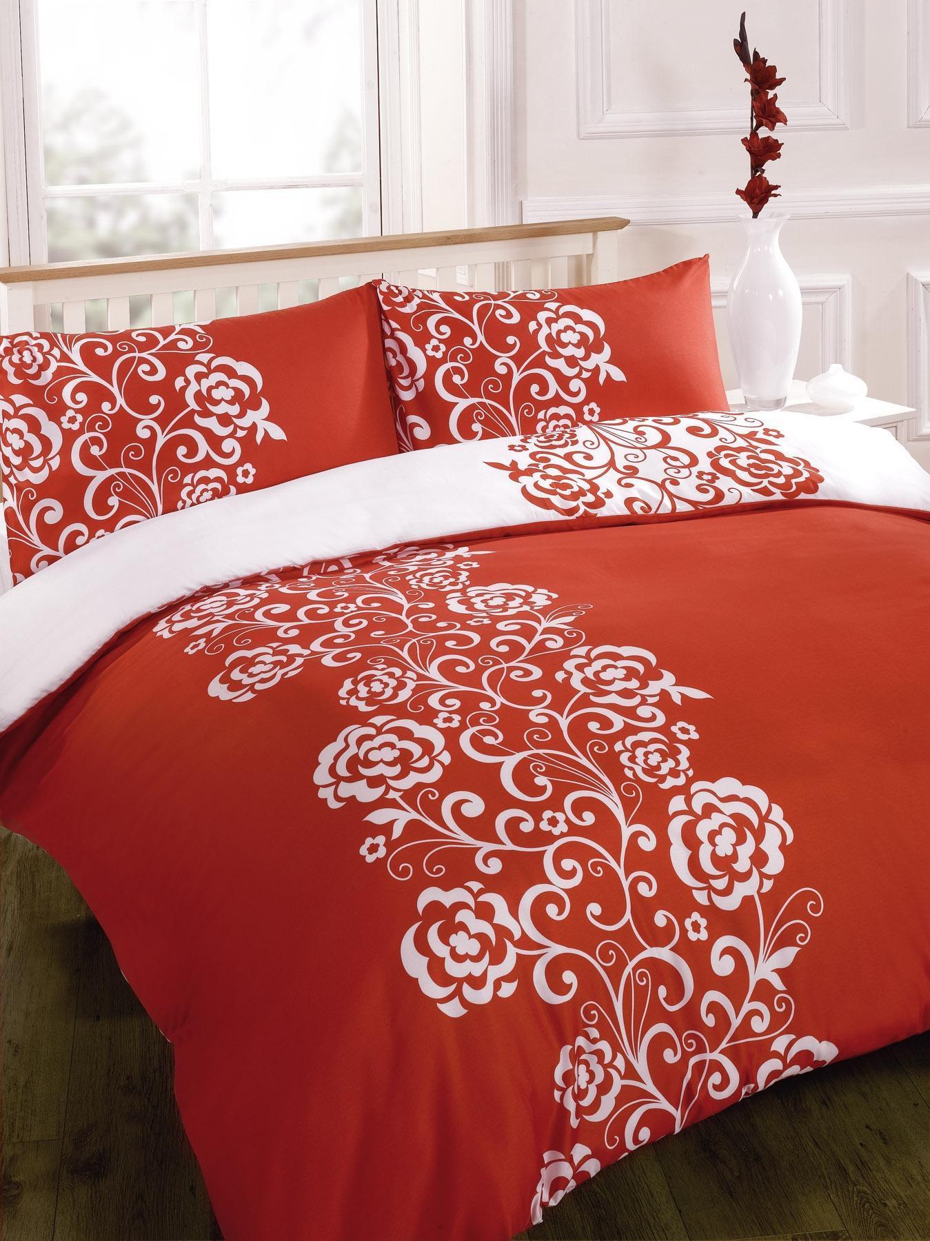 Duvet Quilt Cover Bedding Set Red Single Double King Kingsize Super