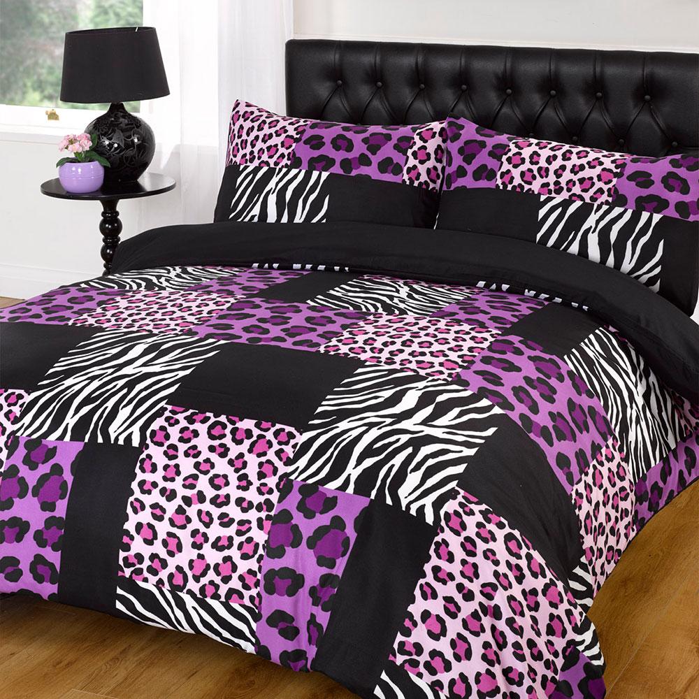 Dreamscene Kruger Zebra Leopard Duvet Cover Black White