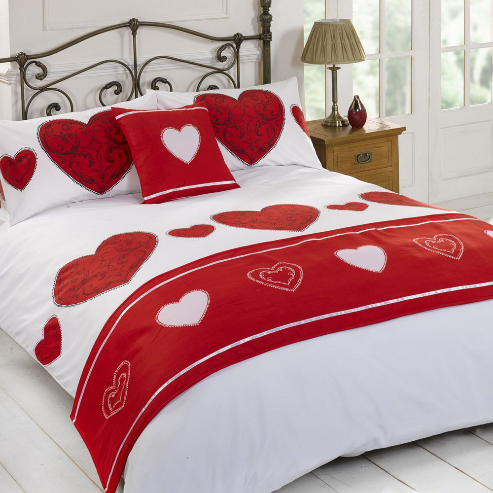 Layla Love Heart Duvet Quilt Pillowcase Bedding Bed In Bag