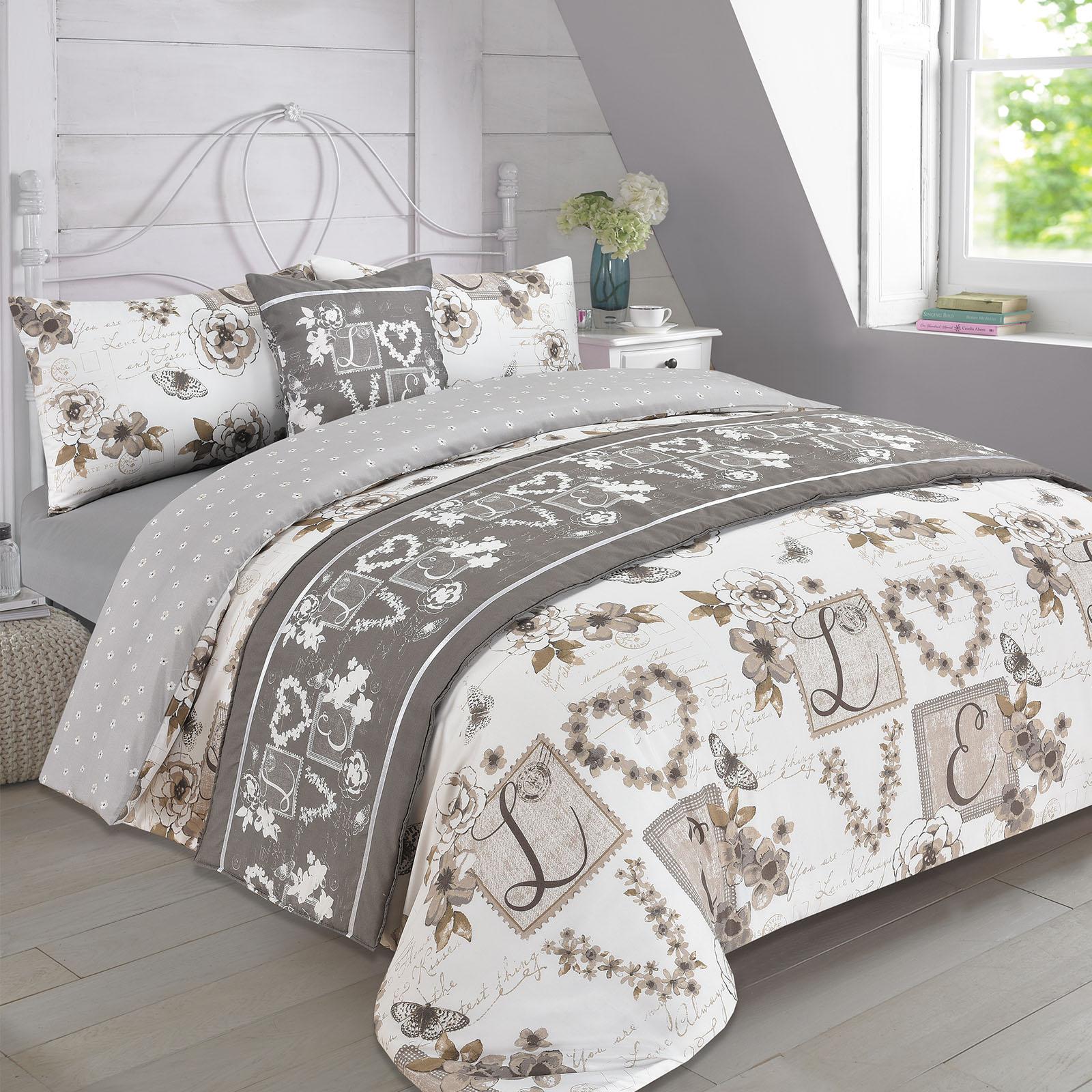 complete bedding set duvet cover with pillowcase sheet - Vintage Bedding