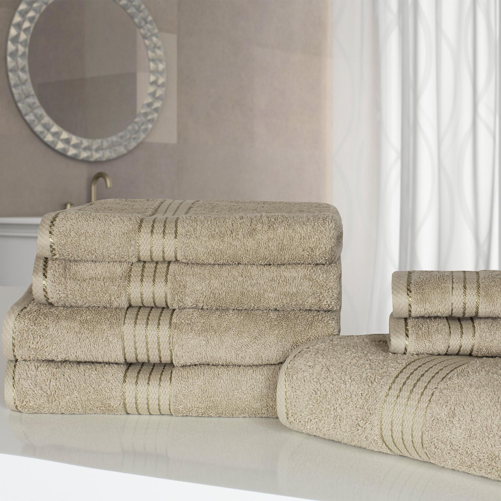 Bathroom Towels Luxury: 100% Egyptian Cotton Luxury Soft Face Hand Bath Towel Bale