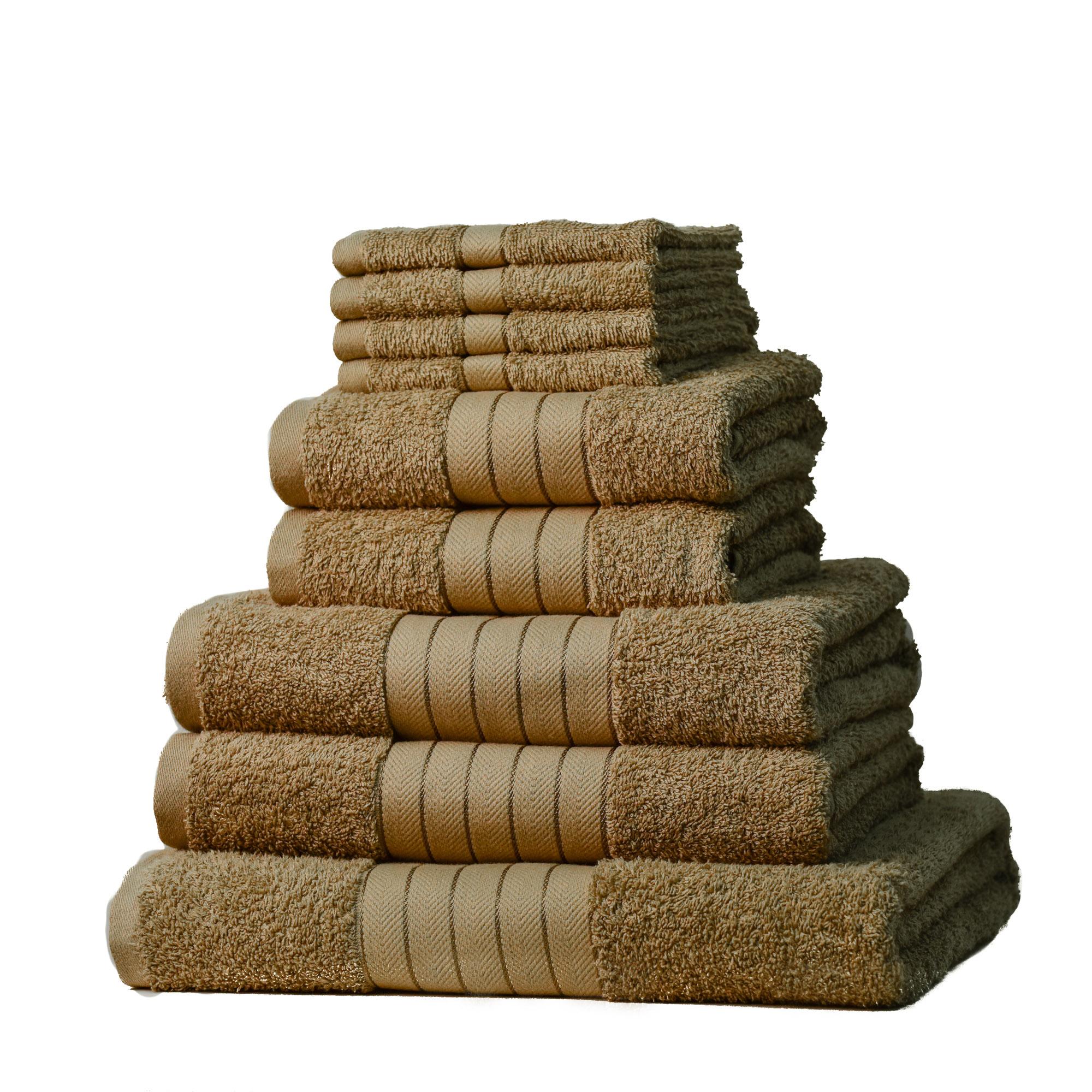 luxe 100 coton gyptien 9 pi ces salle de bain serviette fa ade jeu main ebay. Black Bedroom Furniture Sets. Home Design Ideas