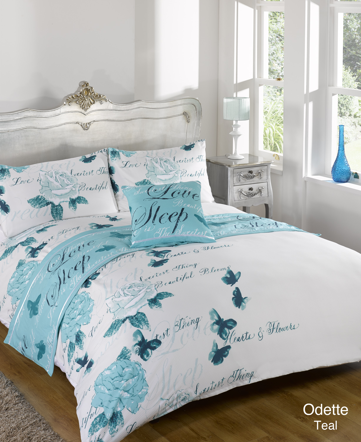 duvet quilt bedding bed in a bag teal single double king kingsize super king ebay. Black Bedroom Furniture Sets. Home Design Ideas