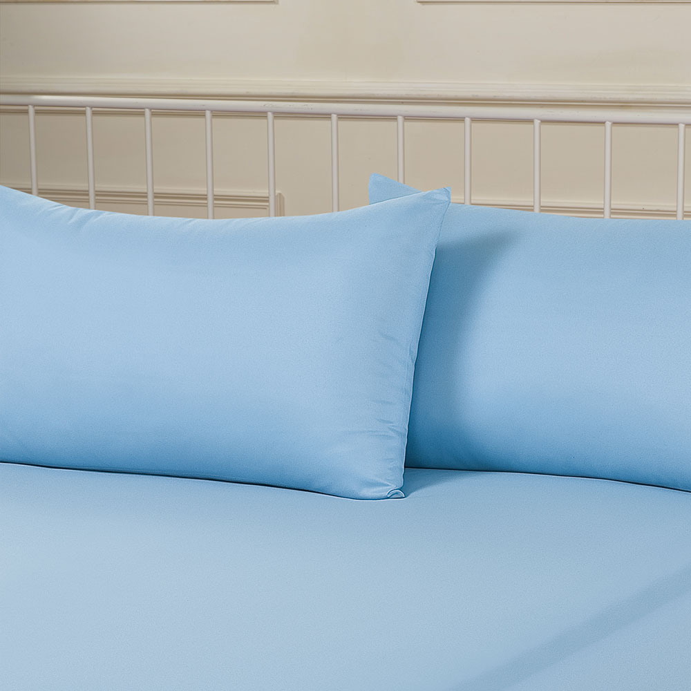 Details About Brentfords Plain Dyed Fitted Bed Sheets Non Iron Single  Double King Superking