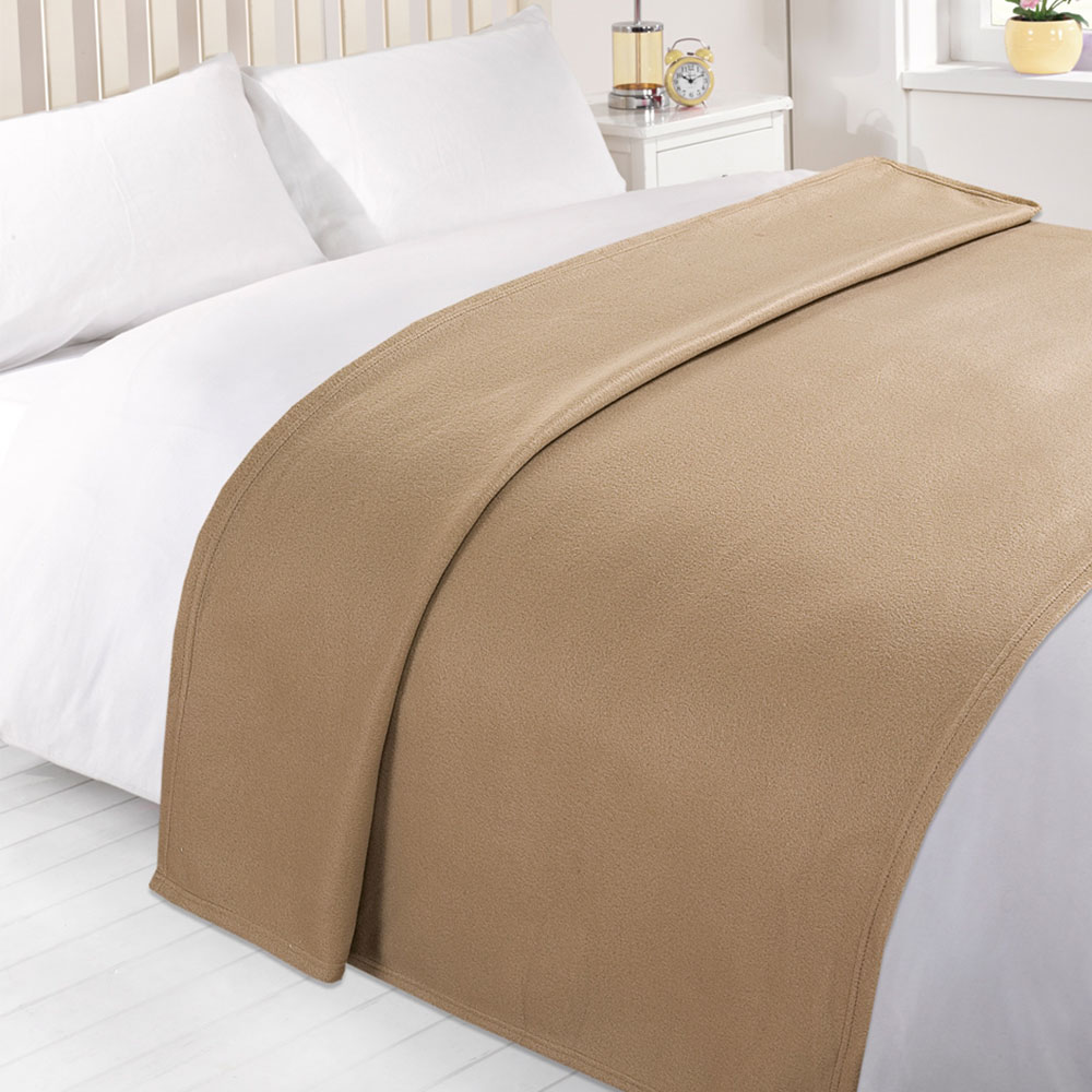 Wholesale 10 X Plain Fleece Blanket Bulk Warm Sofa Throw