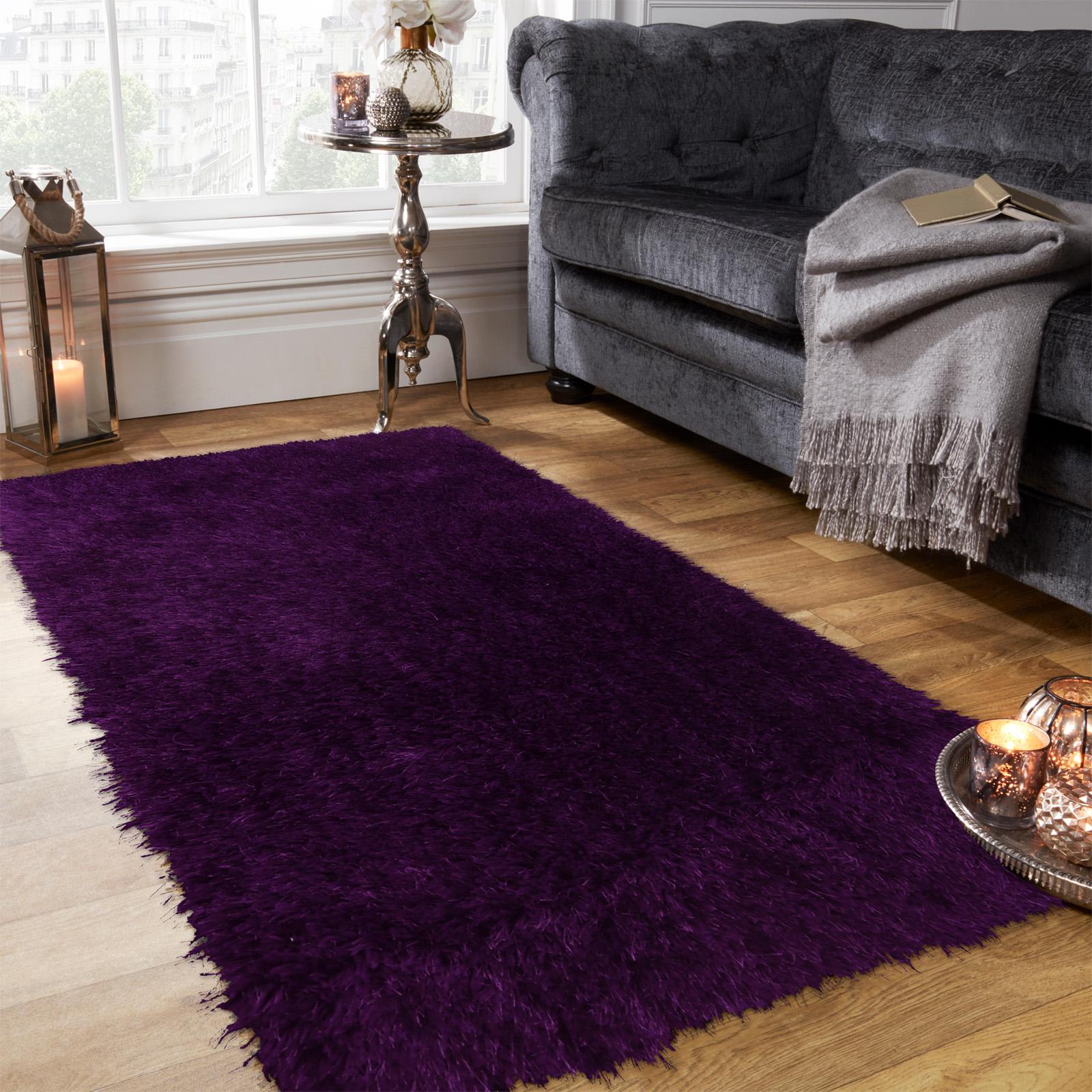 Sienna-Large-Shaggy-Floor-Rug-Plain-Soft-Sparkle-Area-Mat-5cm-Thick-Pile-Glitter thumbnail 20