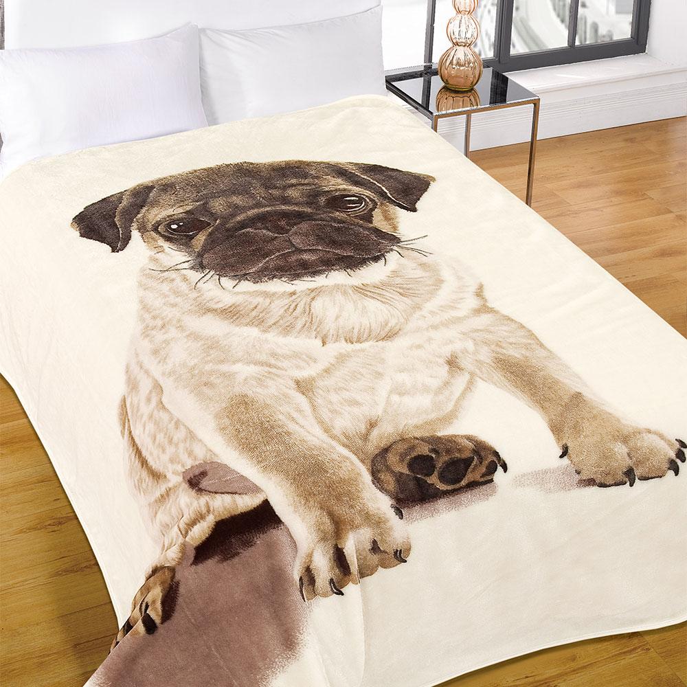 mops bettbezug mit kissenbezug geschenk bettw sche set h ndchen berwurf von ebay. Black Bedroom Furniture Sets. Home Design Ideas