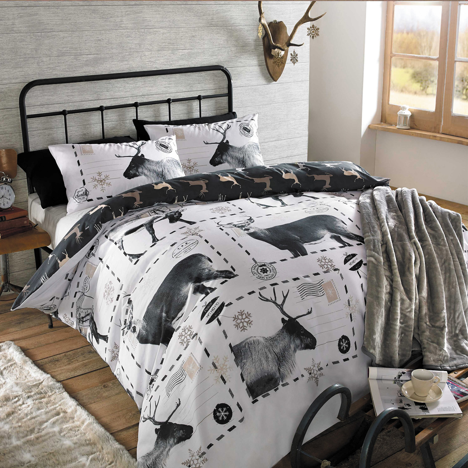 black trunk quilt cover white product kami set design and