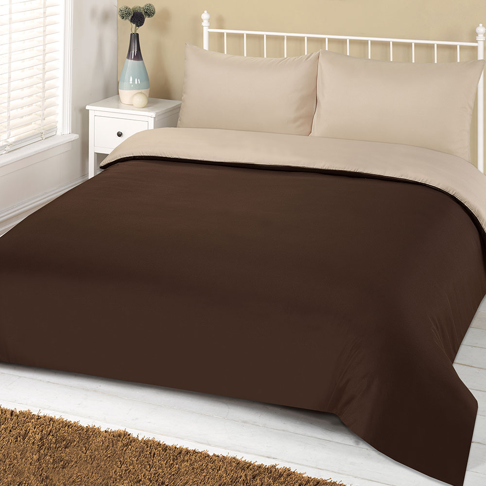 Brentfords-Plain-Duvet-Cover-amp-Pillowcase-Reversible-Bedding-Set-OR-Fitted-Sheet thumbnail 18