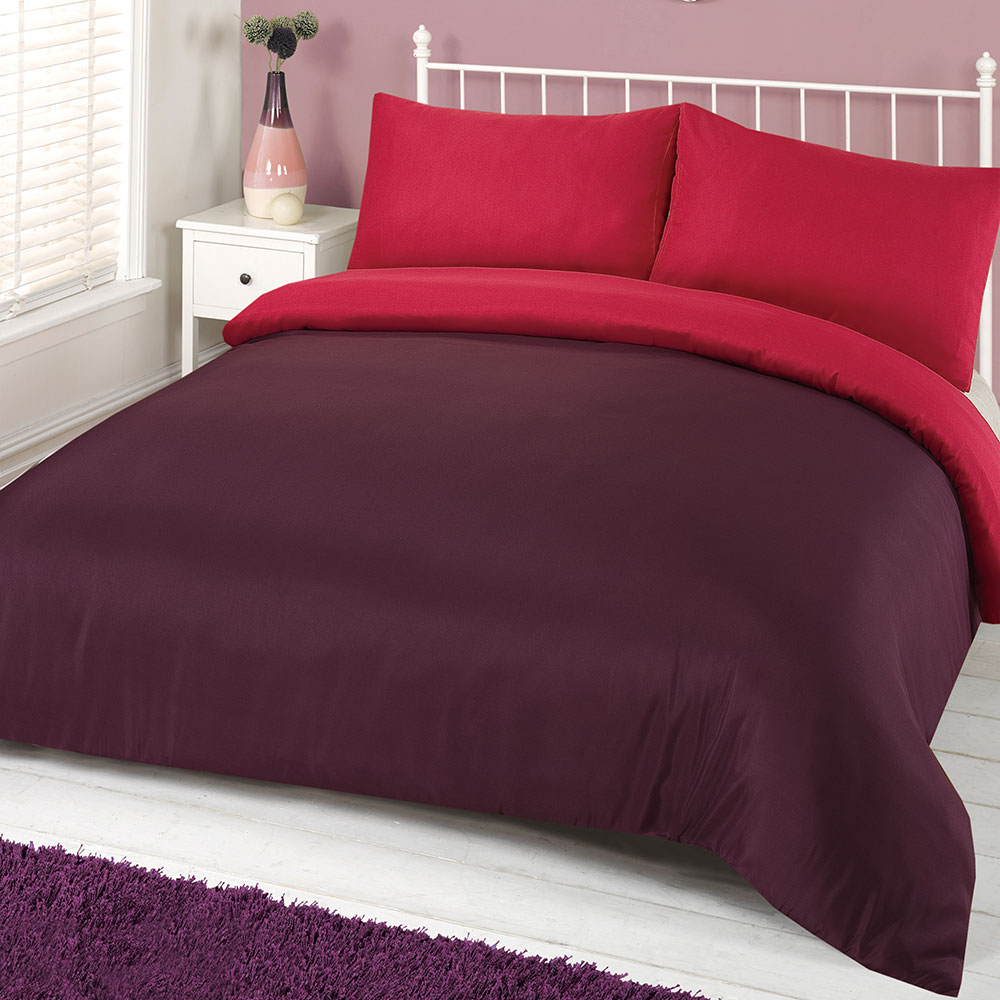 Brentfords-Plain-Duvet-Cover-amp-Pillowcase-Reversible-Bedding-Set-OR-Fitted-Sheet thumbnail 19