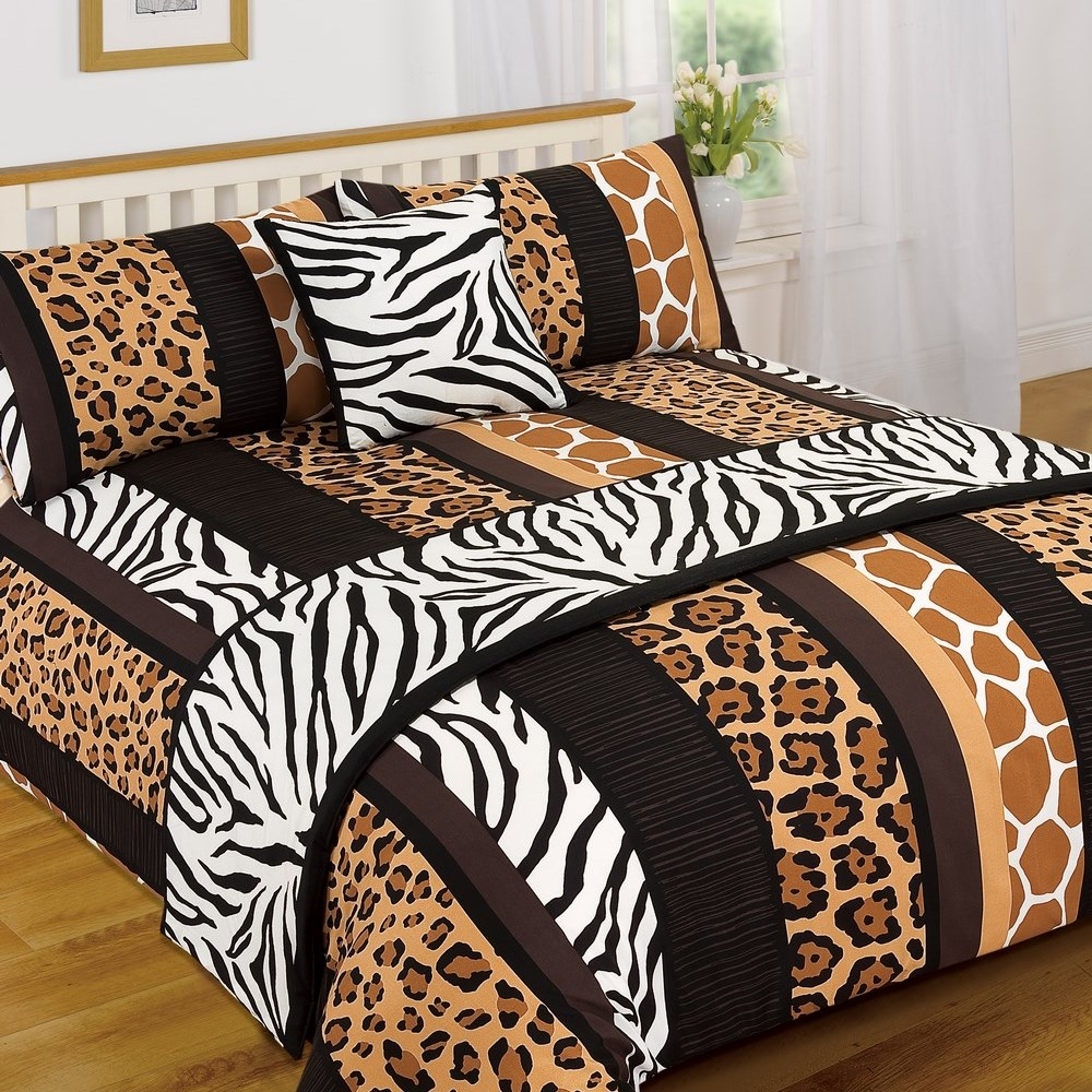 Leopard Animal Print Serengeti Bed In A Bag Duvet Quilt