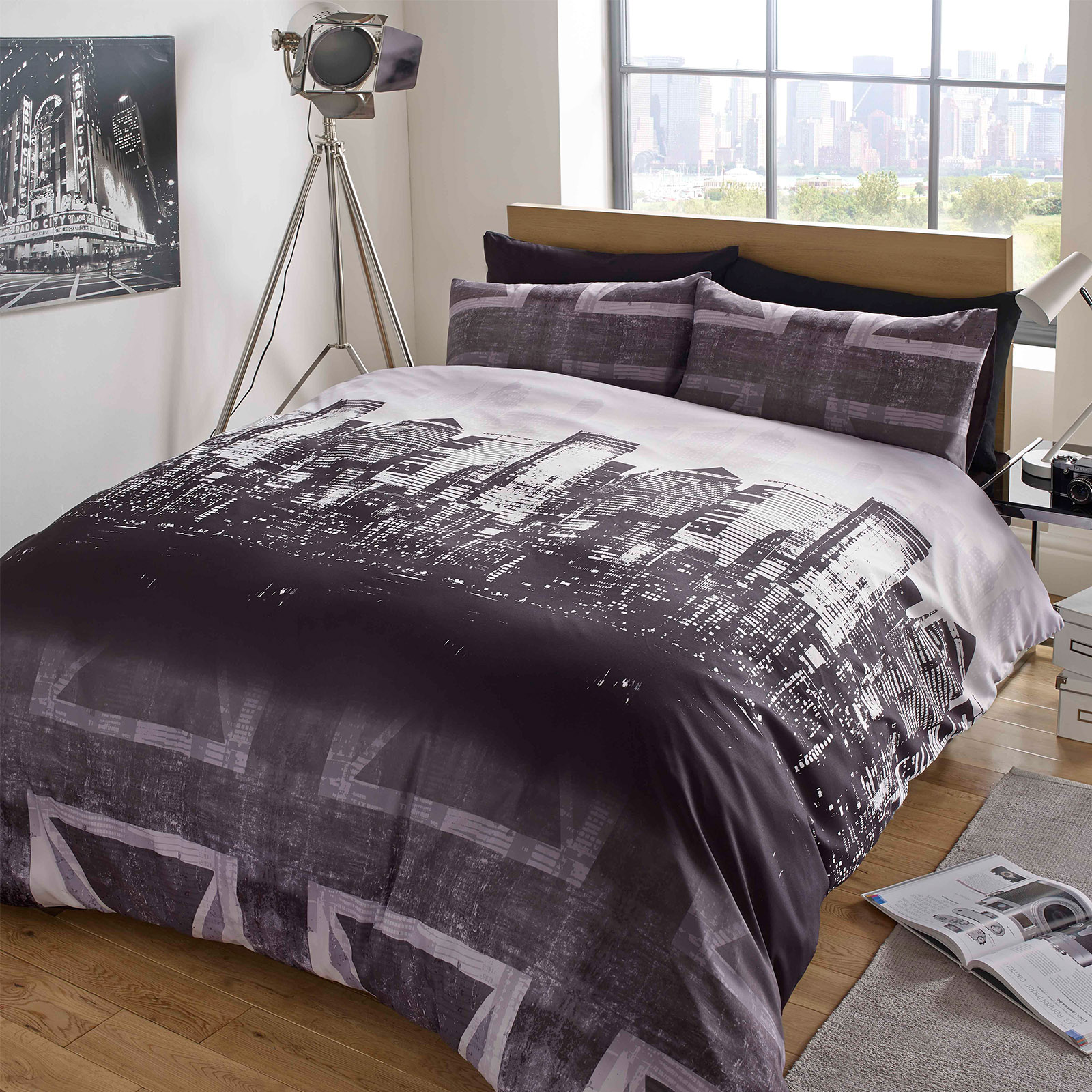 Dreamscene Union Jack Duvet Cover With Pillow Case London Bedding