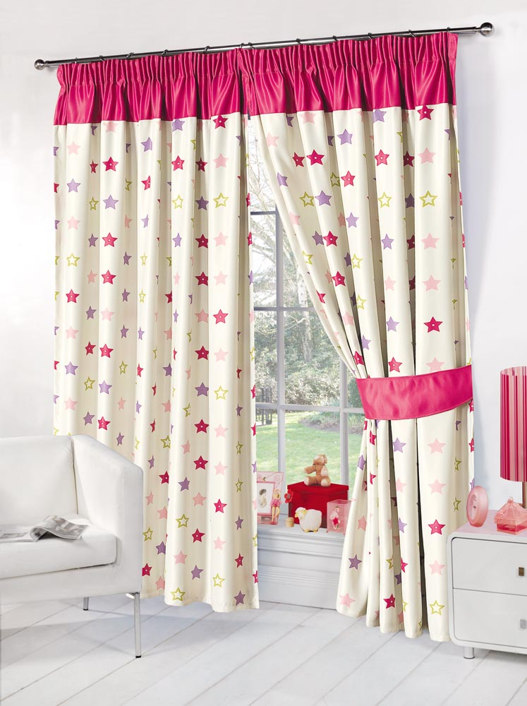 Kids Childrens Stars Thermal Blackout Curtains Boys Girls