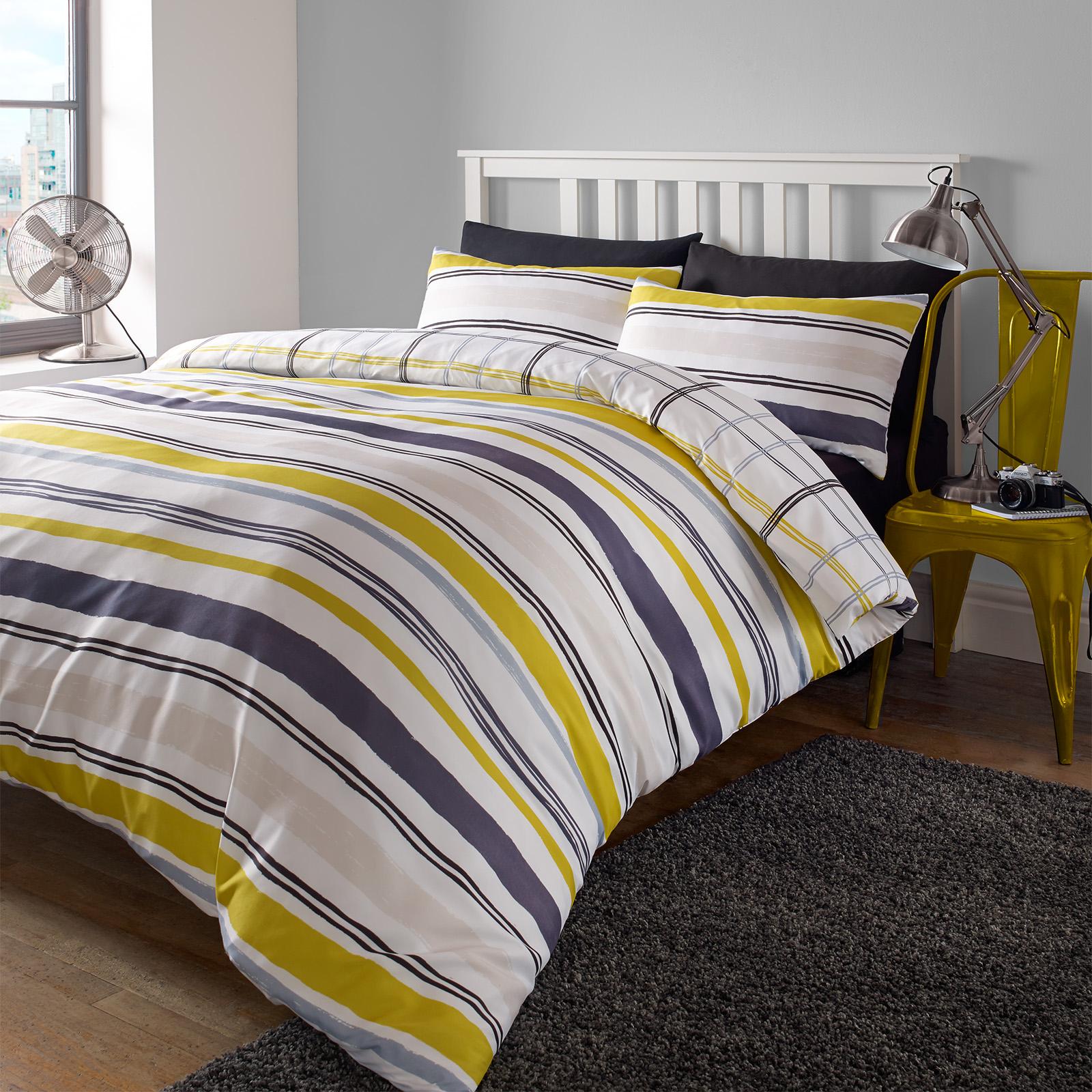berpr fen sie die bettdecke cover mit satz bettw sche kissenbezug tartan ebay. Black Bedroom Furniture Sets. Home Design Ideas