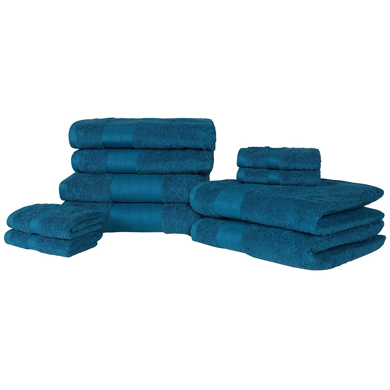 Hand Towel Near Me: Luxury Soft 10 Piece 100% Cotton Towel Bale Set Face Hand