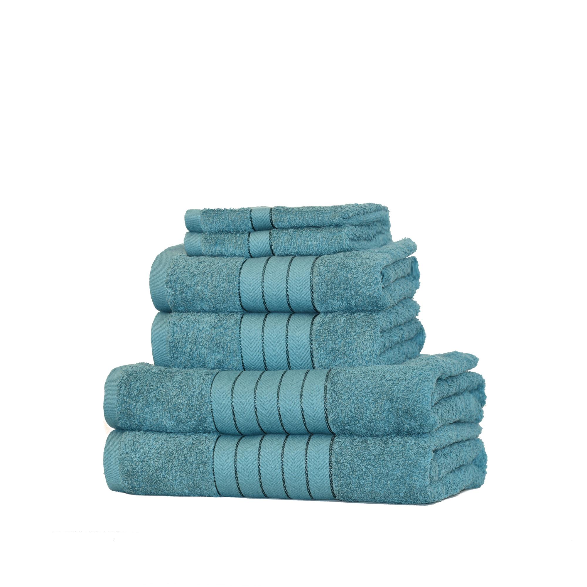 Dreamscene-Luxury-100-Cotton-Face-Hand-Bath-6-Piece-Bathroom-Towel-Bale-Set-NEW thumbnail 28