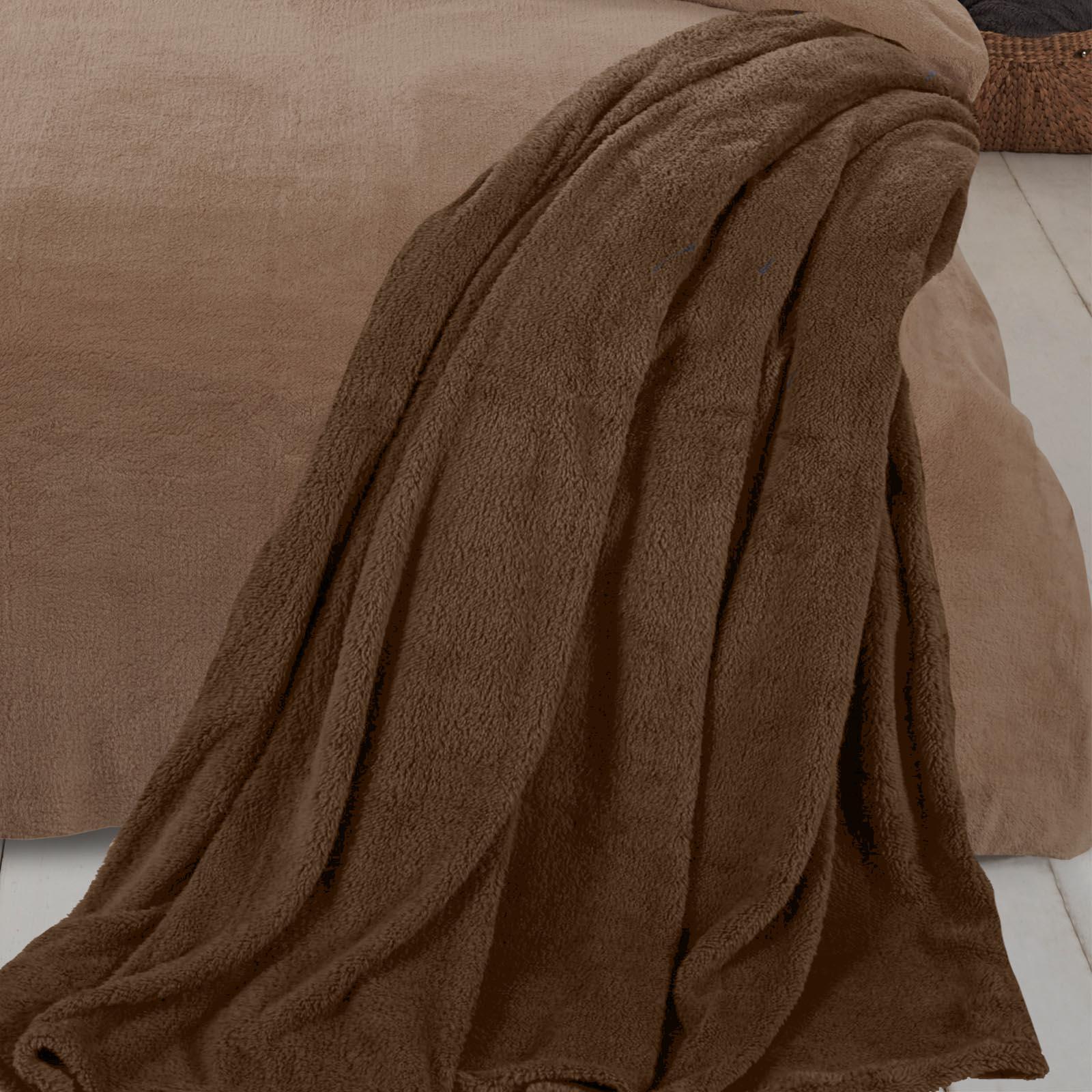 Brentfords-Teddy-Fleece-Bear-Blanket-Large-Throw-Over-Bed-Plush-Soft-Bedspread thumbnail 13