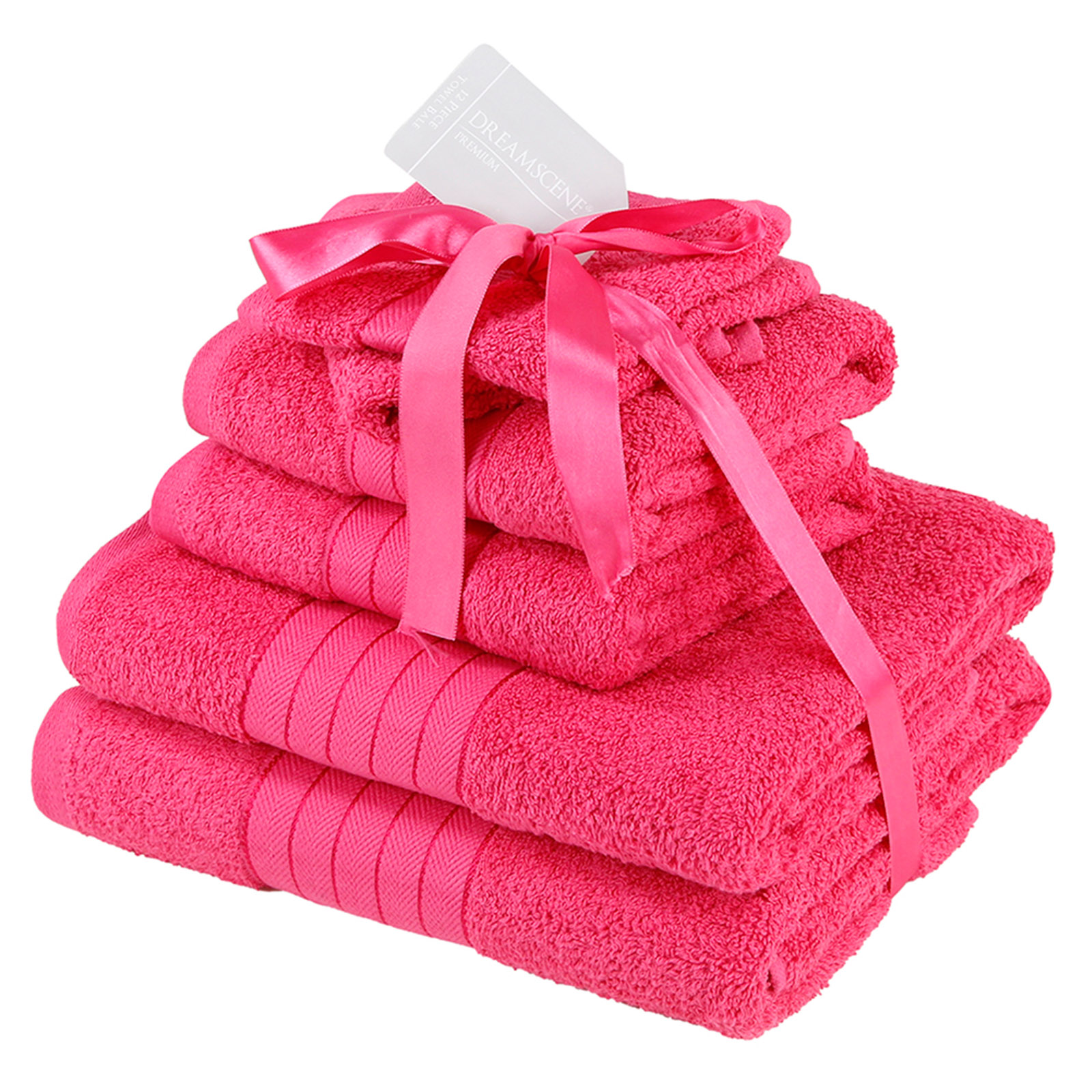Dreamscene-Luxury-100-Cotton-Face-Hand-Bath-6-Piece-Bathroom-Towel-Bale-Set-NEW thumbnail 18
